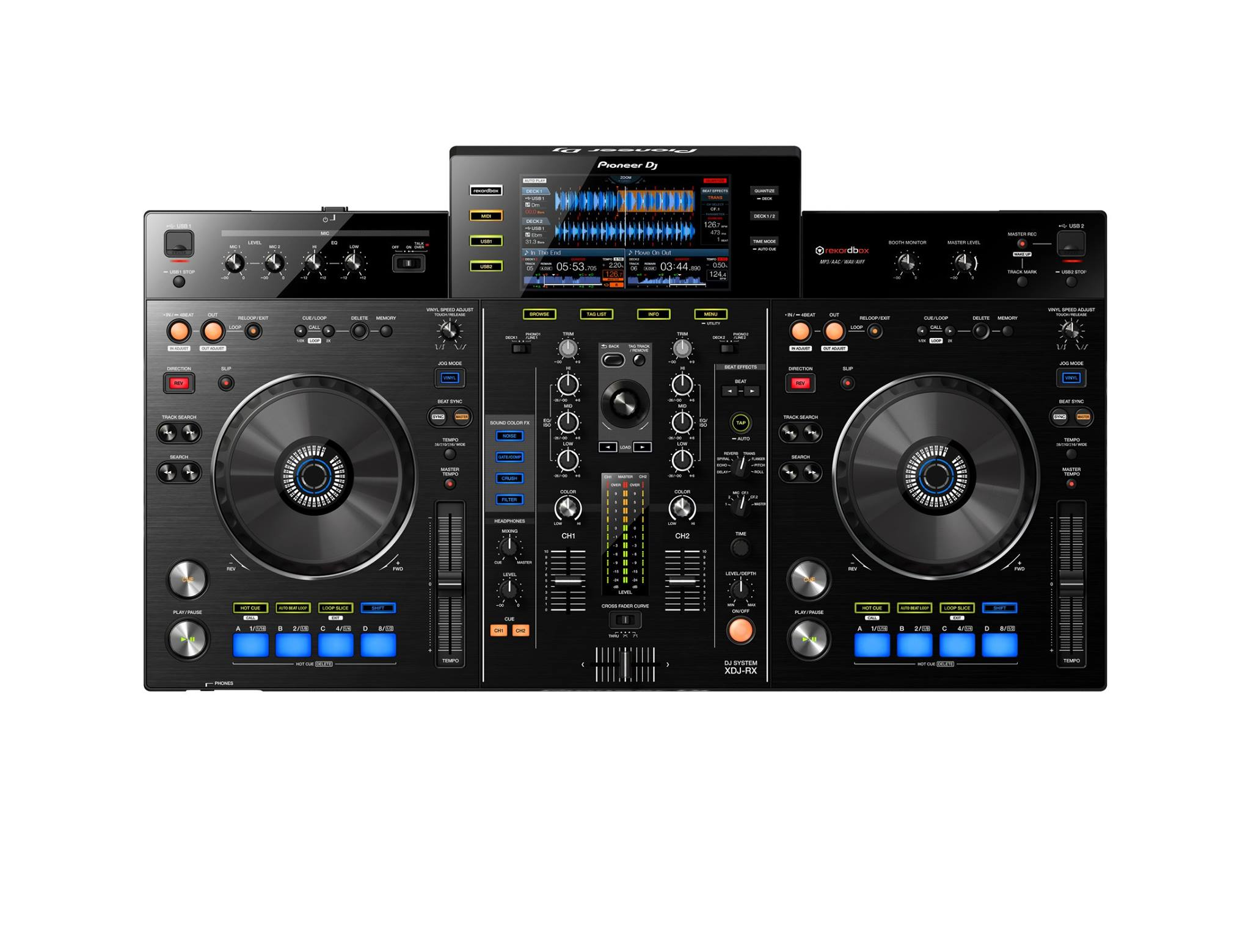 contr leur midi dj pioneer xdj rx 2 canaux compatible rekordbox audiofanzine. Black Bedroom Furniture Sets. Home Design Ideas