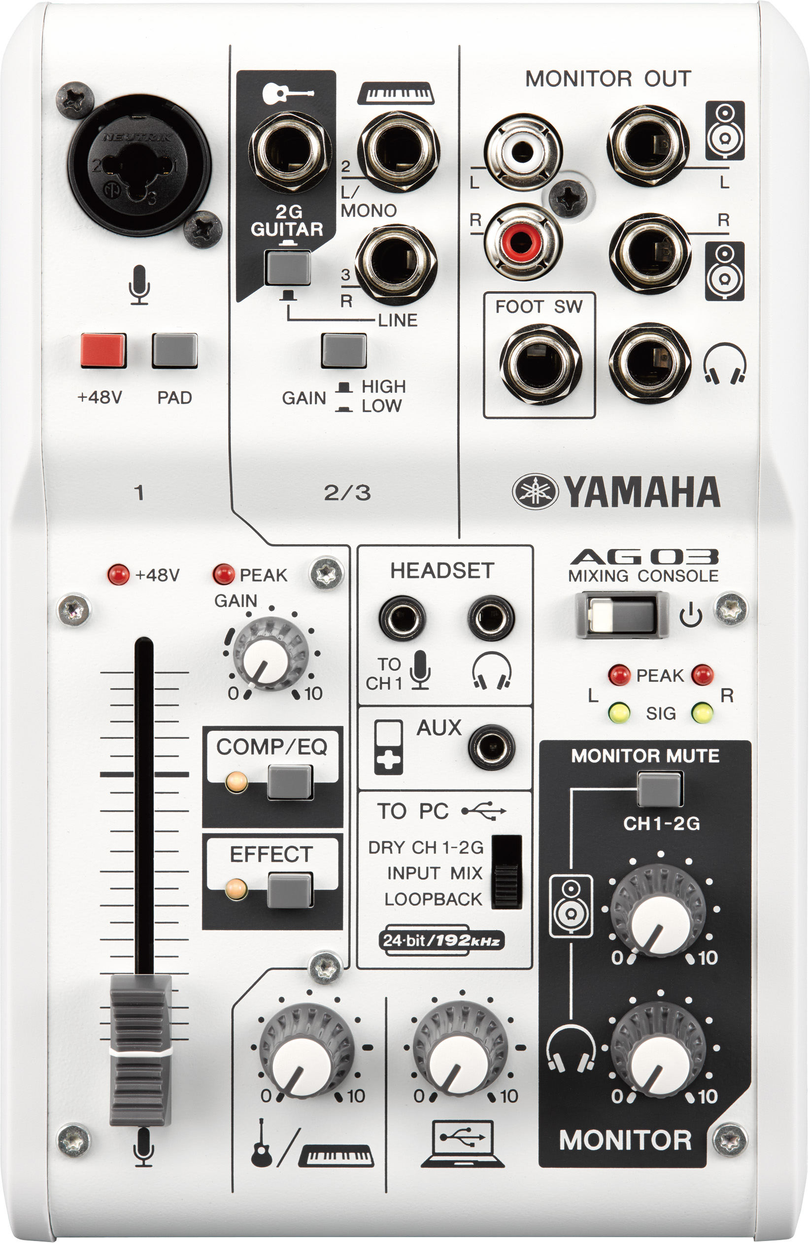 Yamaha Ag03 And Ag06 Hybrid Mixers And Usb Audio