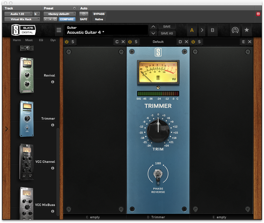 A review of Slate Digital's Virtual Mix Rack - Audiofanzine