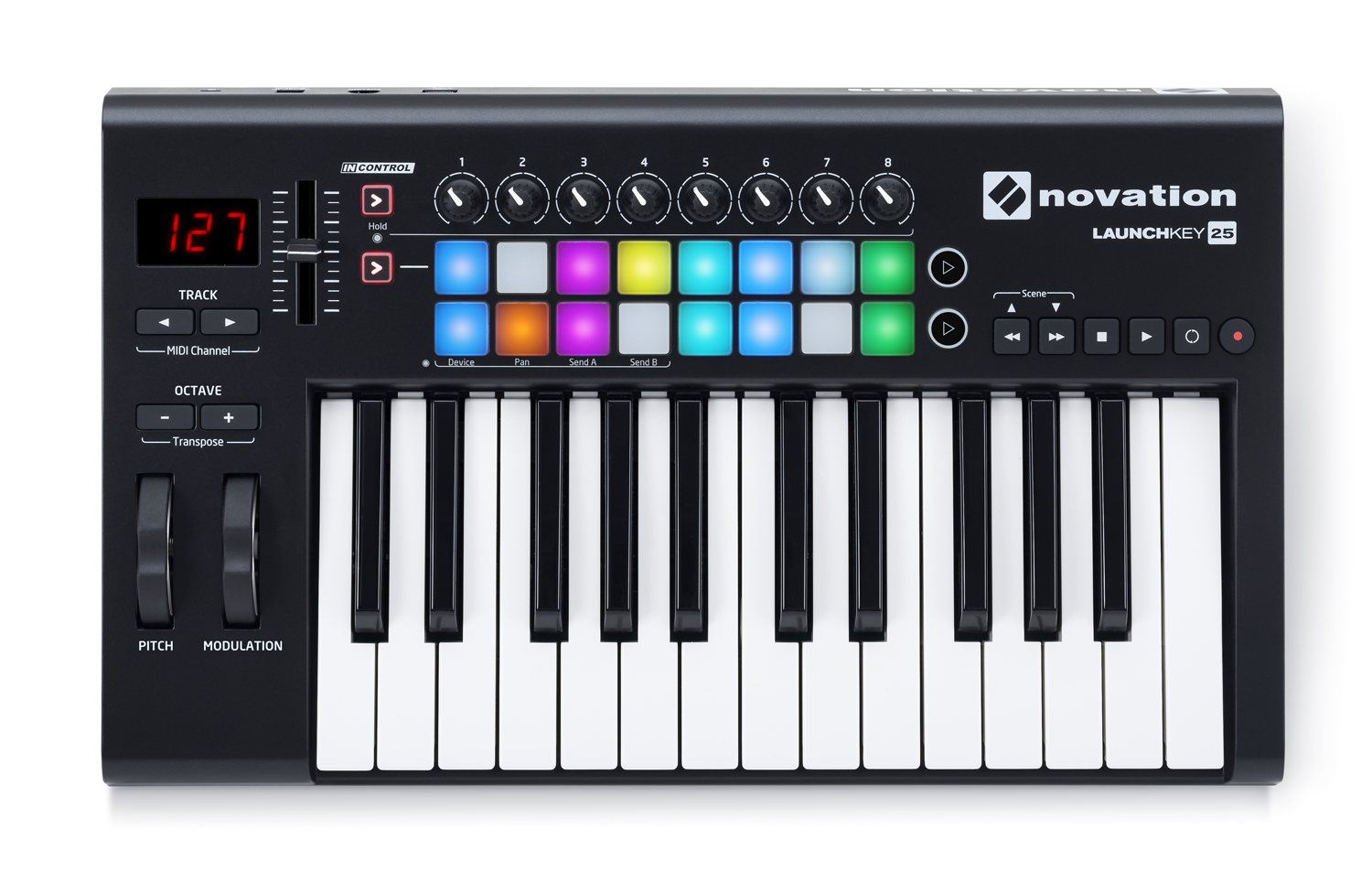 novation launches mk2 versions of launchkey and launchpad mini midi controllers audiofanzine. Black Bedroom Furniture Sets. Home Design Ideas