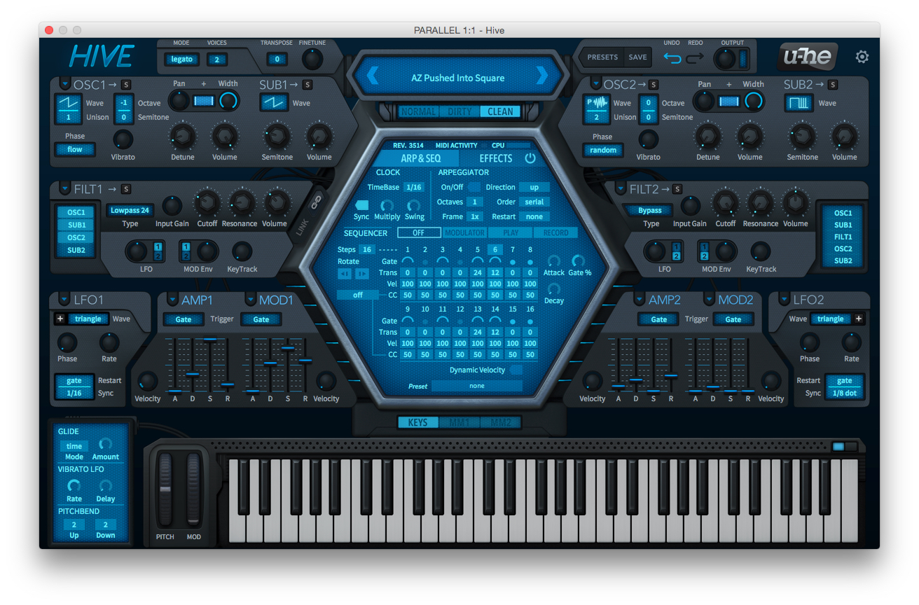 A Review Of Hive A New Virtual Synth From U He Audiofanzine