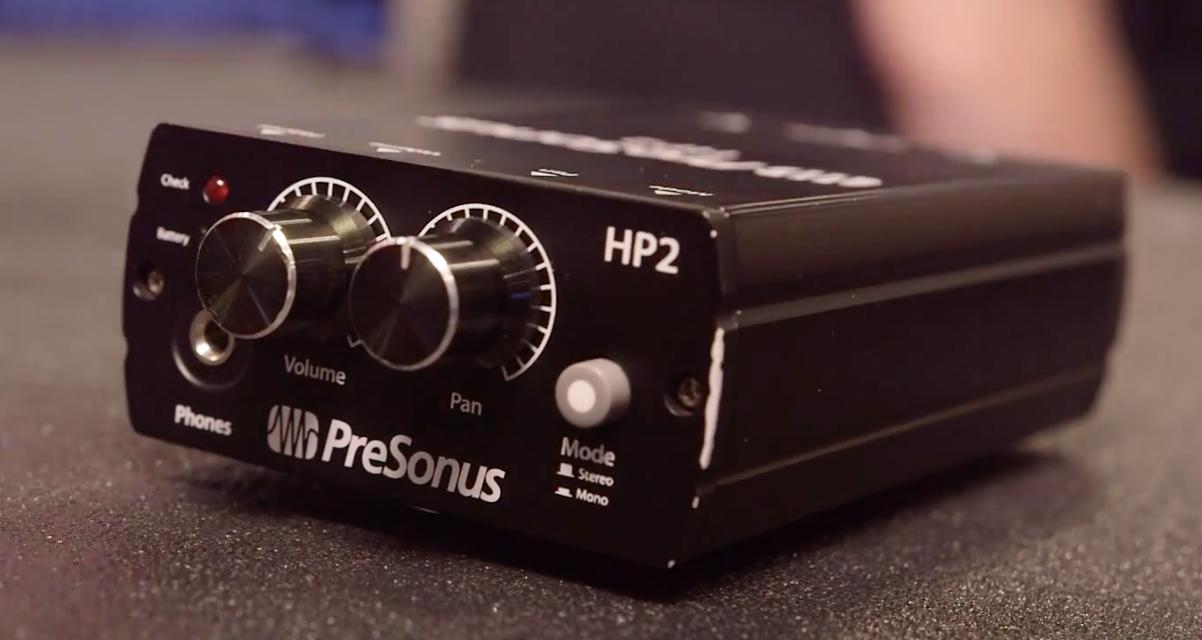 PreSonus HP2 compact headphone amp for in-ear monitoring