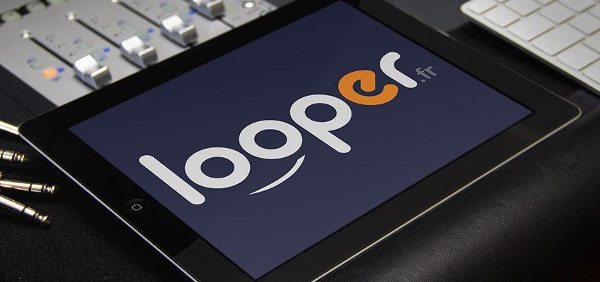 Looper logo sur ipad