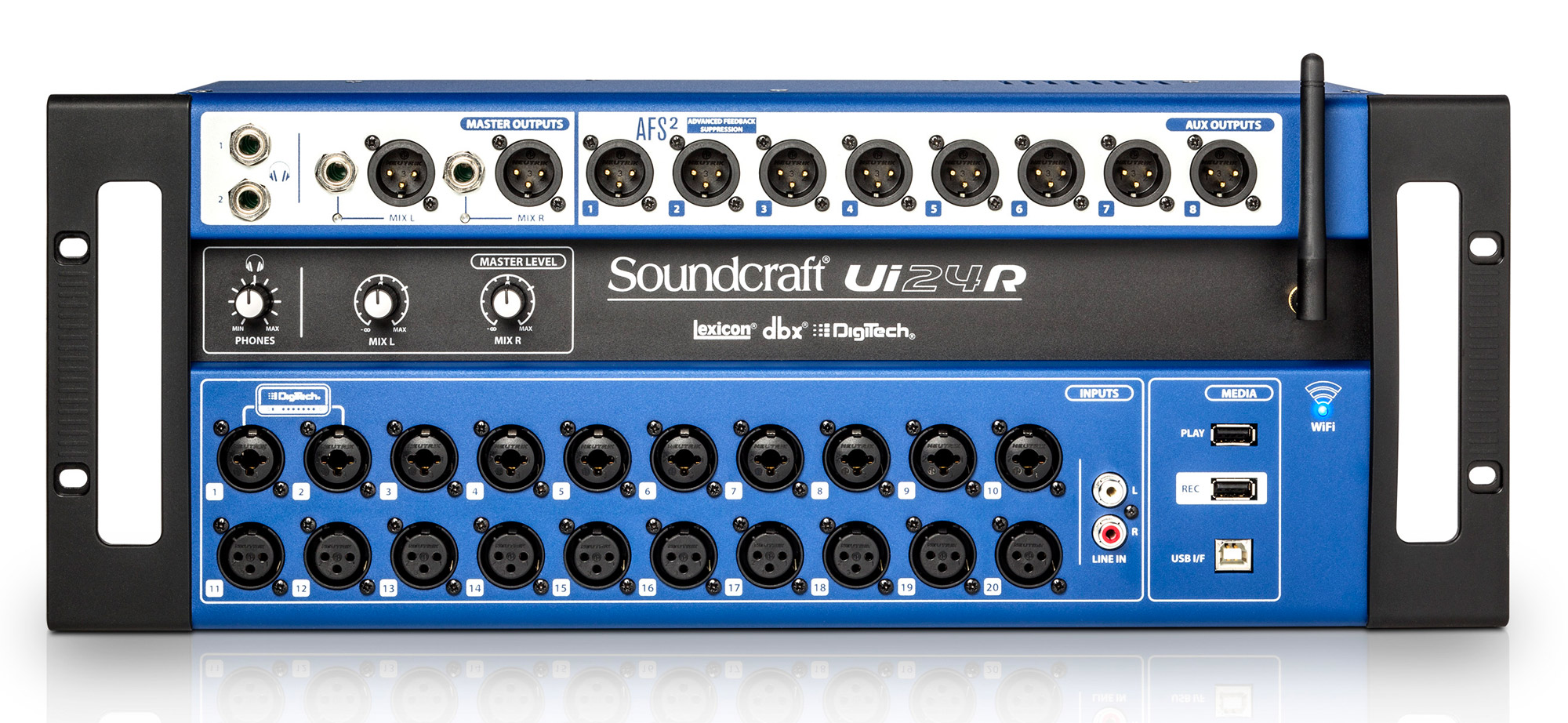 Console De Mixage Audio Numerique 24 Canaux En Rack Avec Wifi