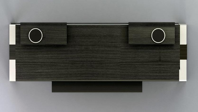 Bureau en ébène et aluminium pour home studio et mao modson