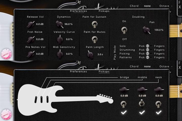 acousticsamples strategy mulation de guitare lectrique fender stratocaster pour l 39 uvi. Black Bedroom Furniture Sets. Home Design Ideas