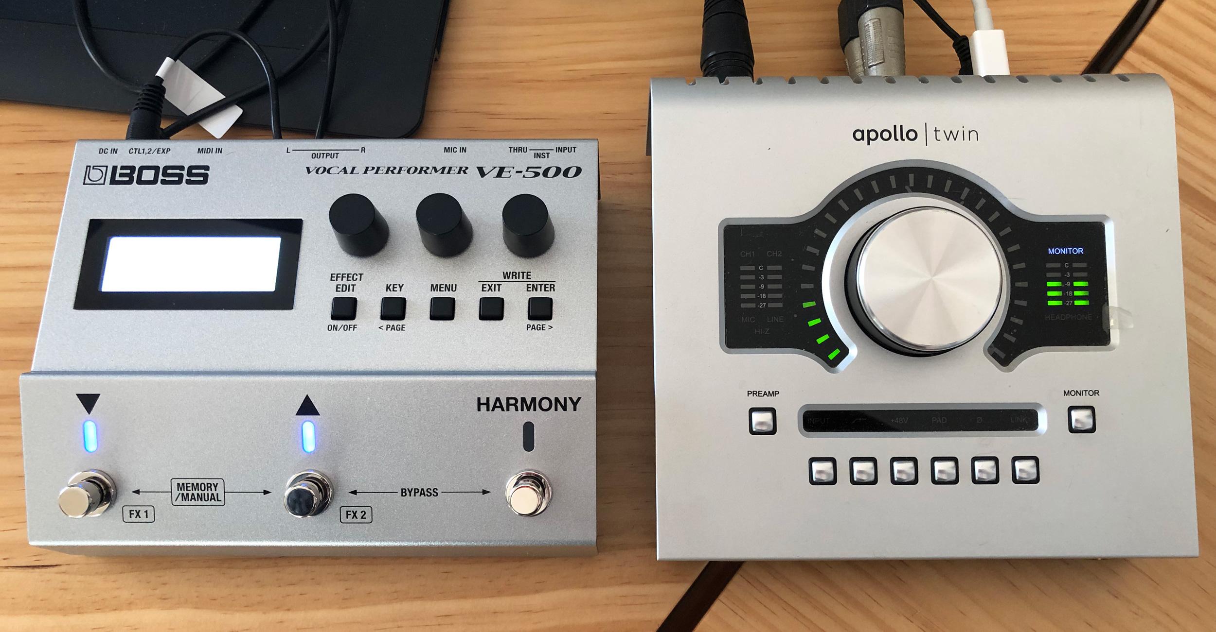 Test Boss VE-500, processeur vocal au format pédale, harmoniseur
