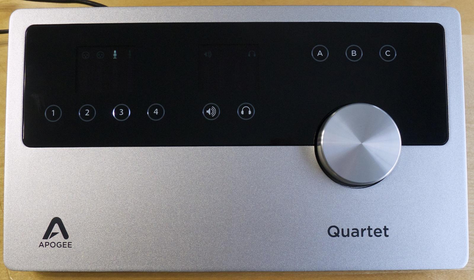 Apogee Quartet Audio Interface Review : 2 Duet = 1 Quartet