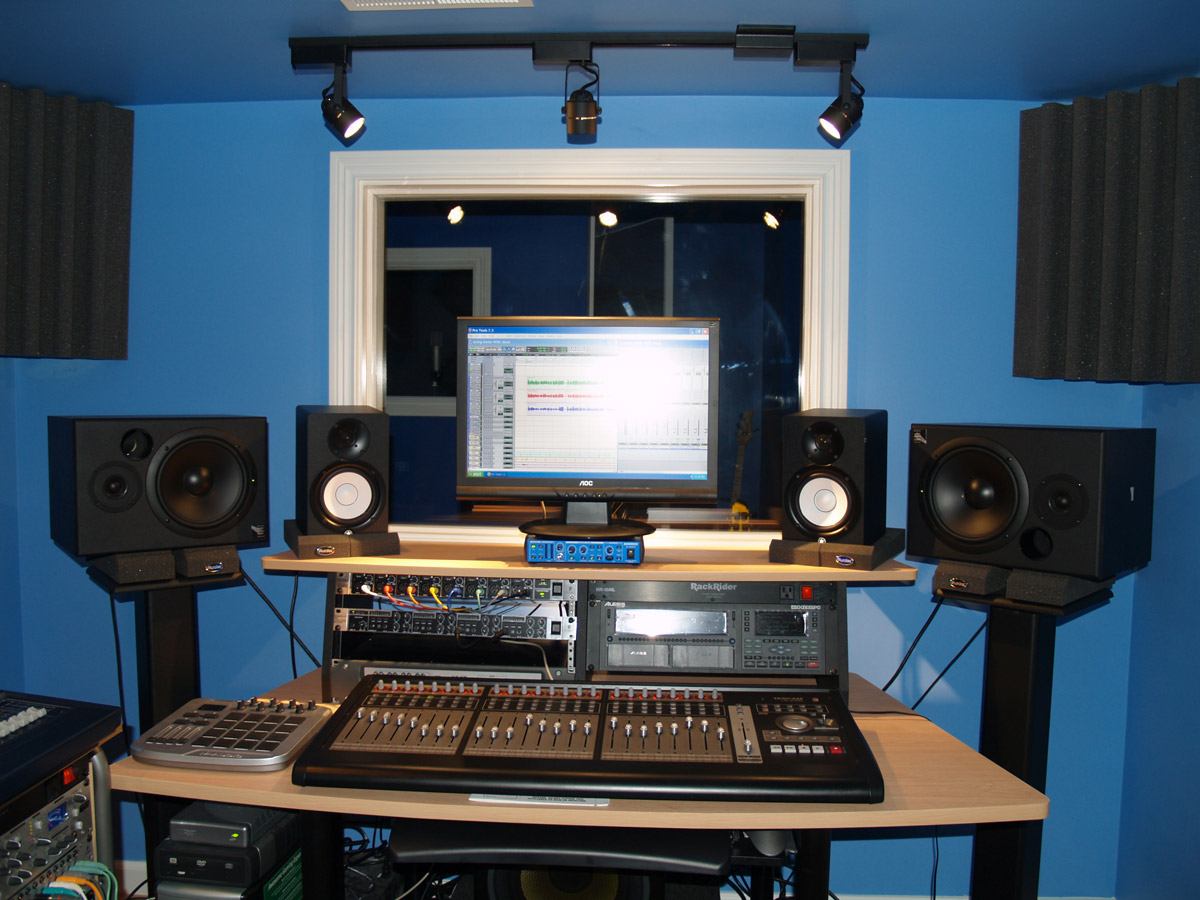 how to position studio monitors audiofanzine. Black Bedroom Furniture Sets. Home Design Ideas