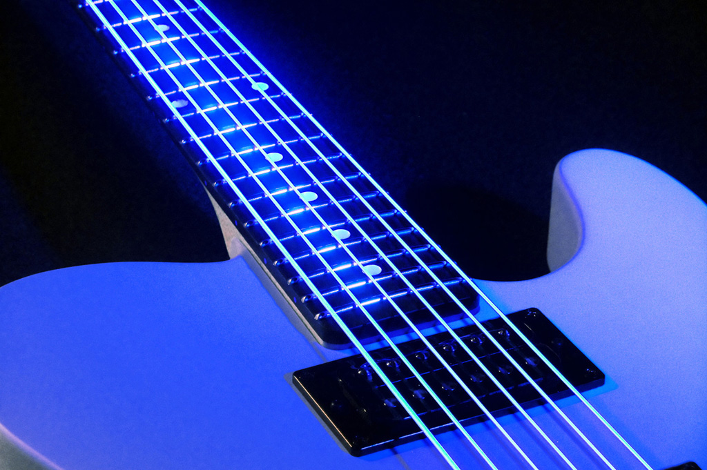 black neon electric guitar - photo #5