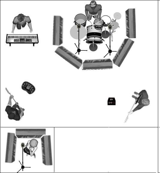 Eviter ou r duire la diaphonie lors de l 39 enregistrement de batterie audiofanzine - Reduire la resonance d une piece ...