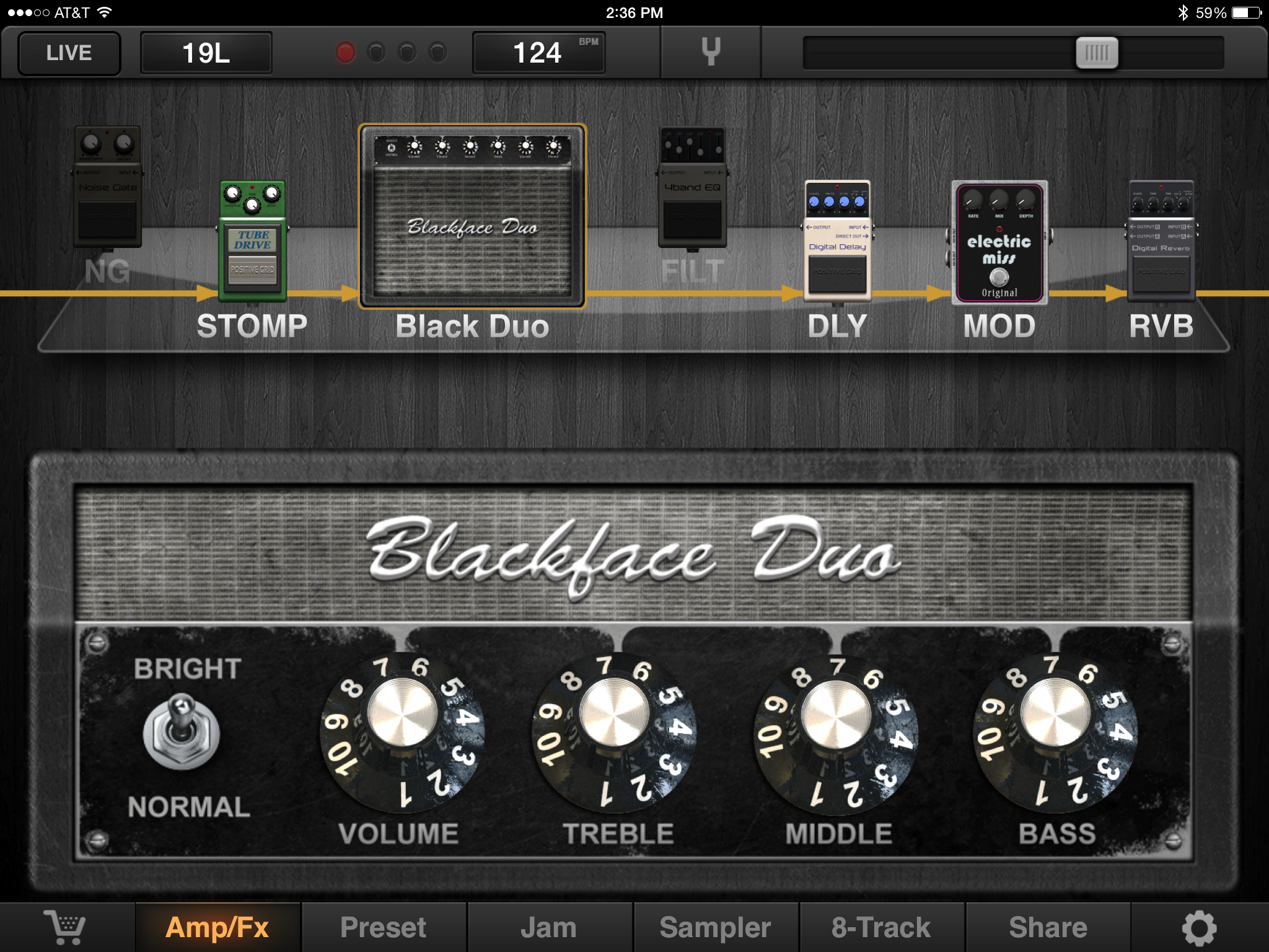 Black face app - The Amps That Come With The App Include Two Fender Emulations Blackface Duo And Tweed Bass As Well As Several Marshall Style Amps An Ac30 Emulation And A