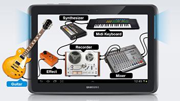 Компания Samsung начала соревнование с Apple в сфере профессиональных аудио/MIDI-приложений для мобильных устройств