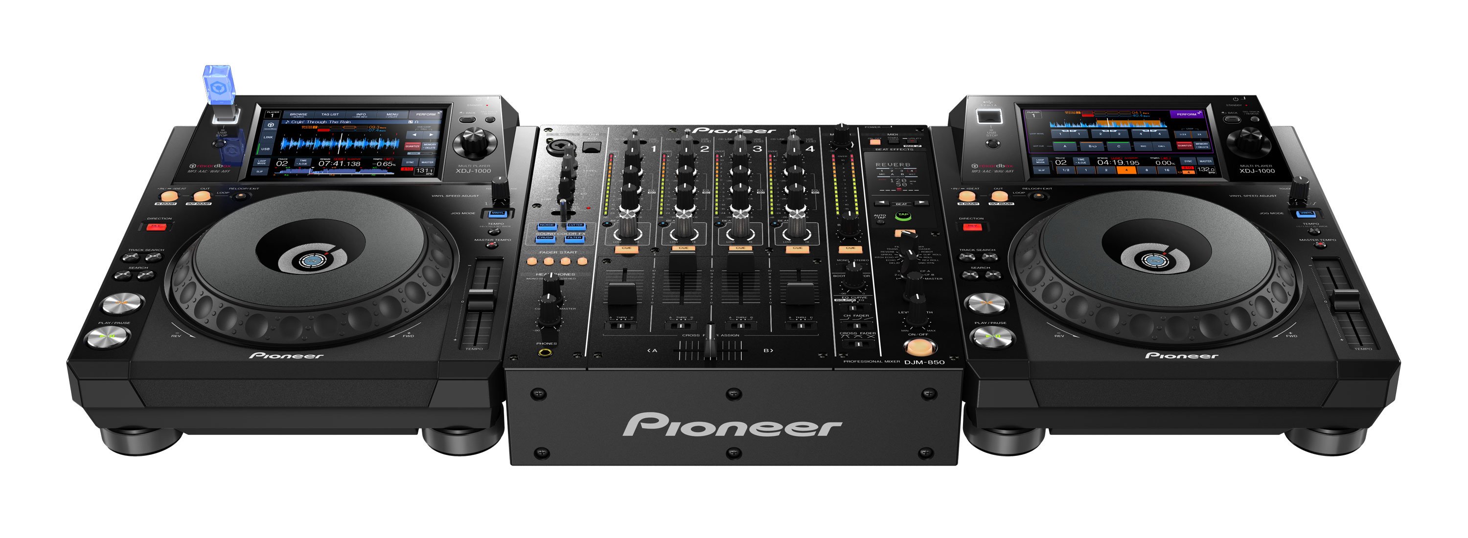 la platine dj pioneer xdj 1000 lit les morceaux via usb et wifi audiofanzine. Black Bedroom Furniture Sets. Home Design Ideas