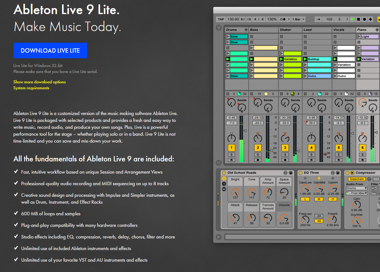 photo ableton live 9 lite ableton live 9 lite 56400 993513 audiofanzine. Black Bedroom Furniture Sets. Home Design Ideas
