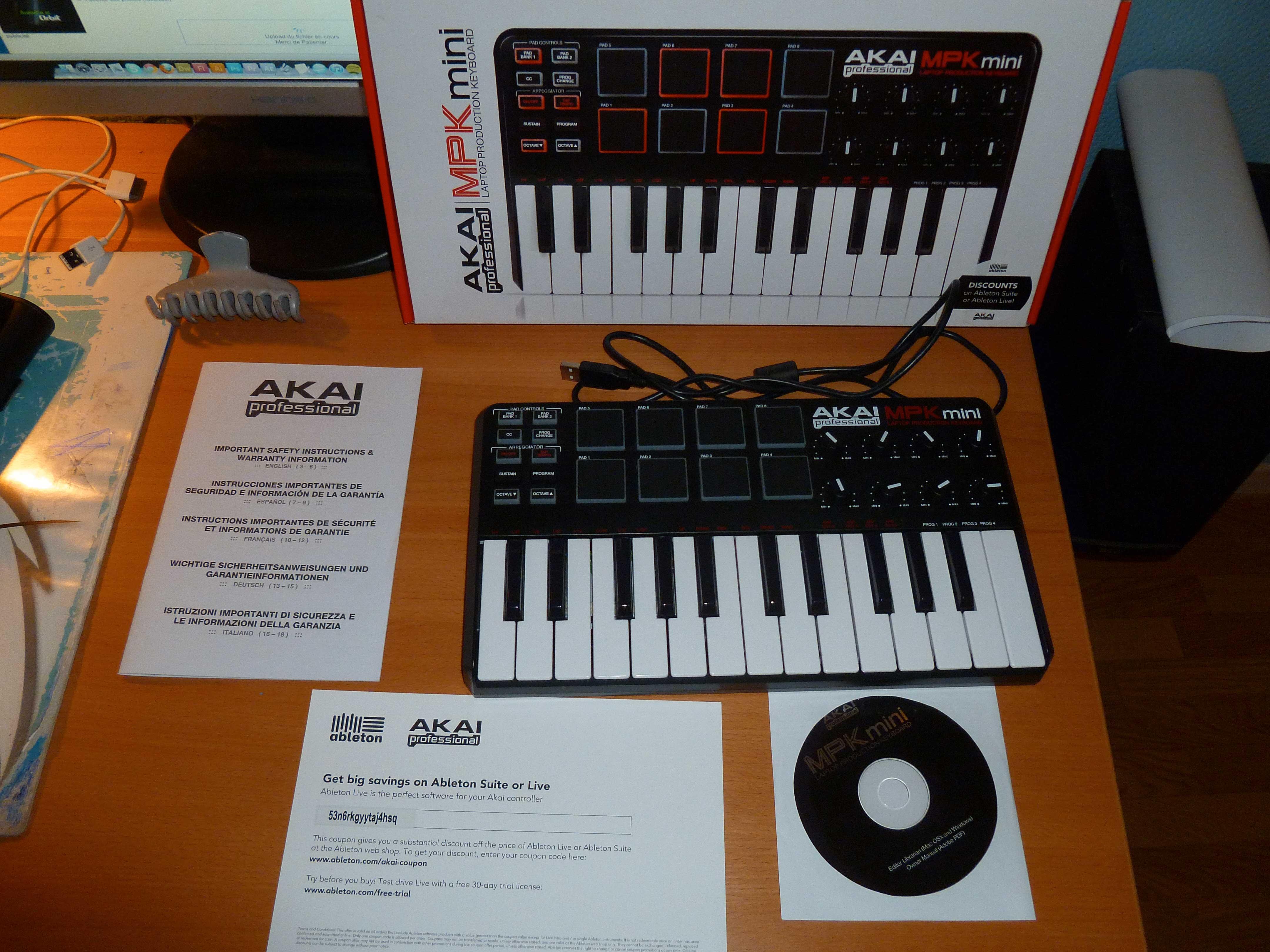 akai mpk mini image 340108 audiofanzine rh en audiofanzine com Akai MPK25 Tutorial Akai MPK Mini Cord Replacements