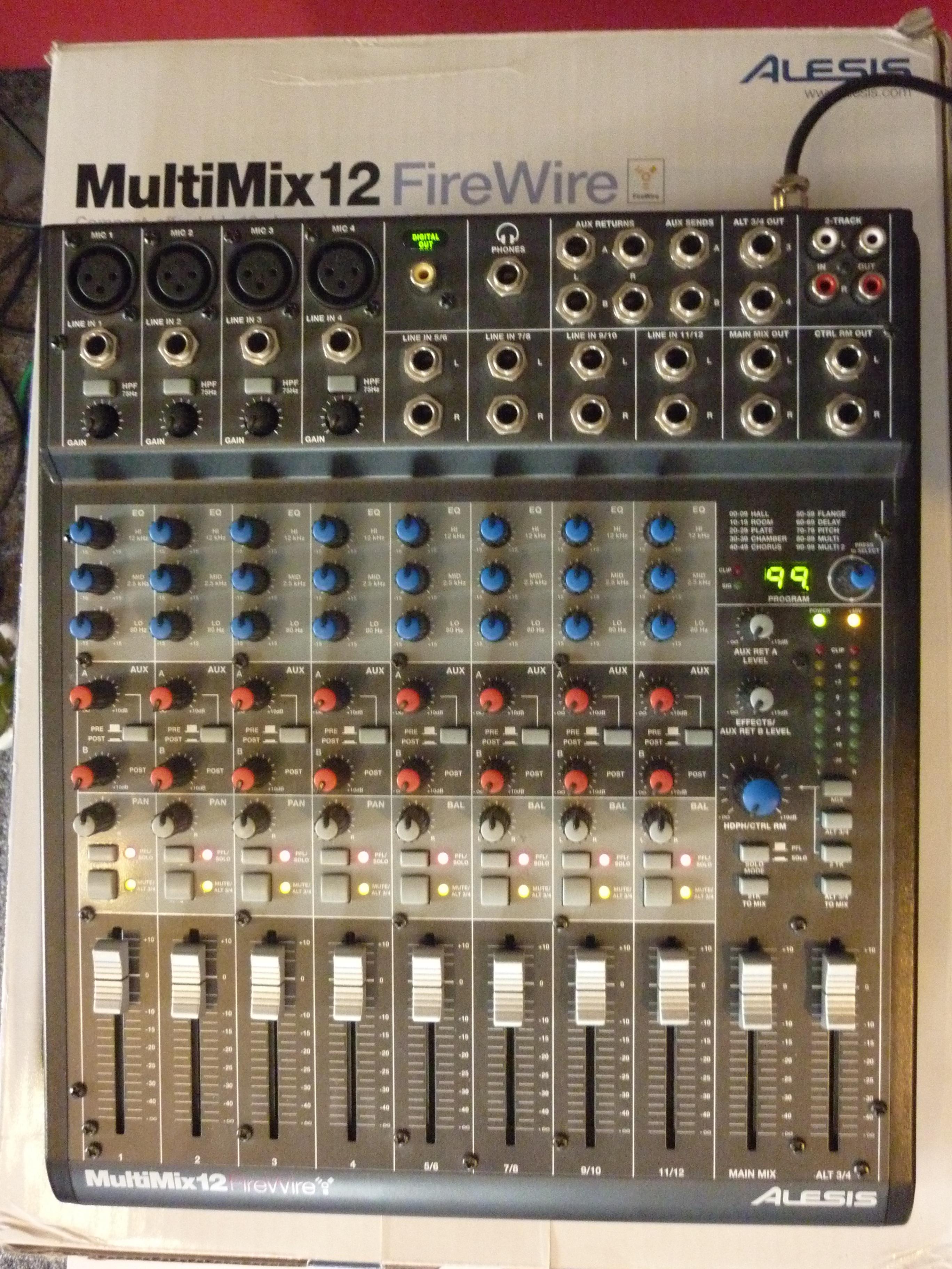 alesis multimix 12 firewire manual pdf
