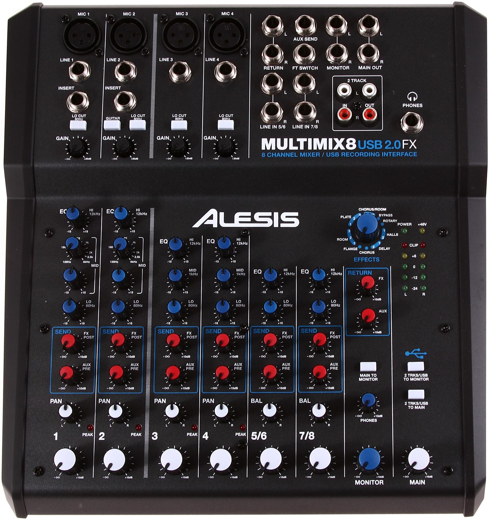 table de mixage alesis multimix 8 usb fx