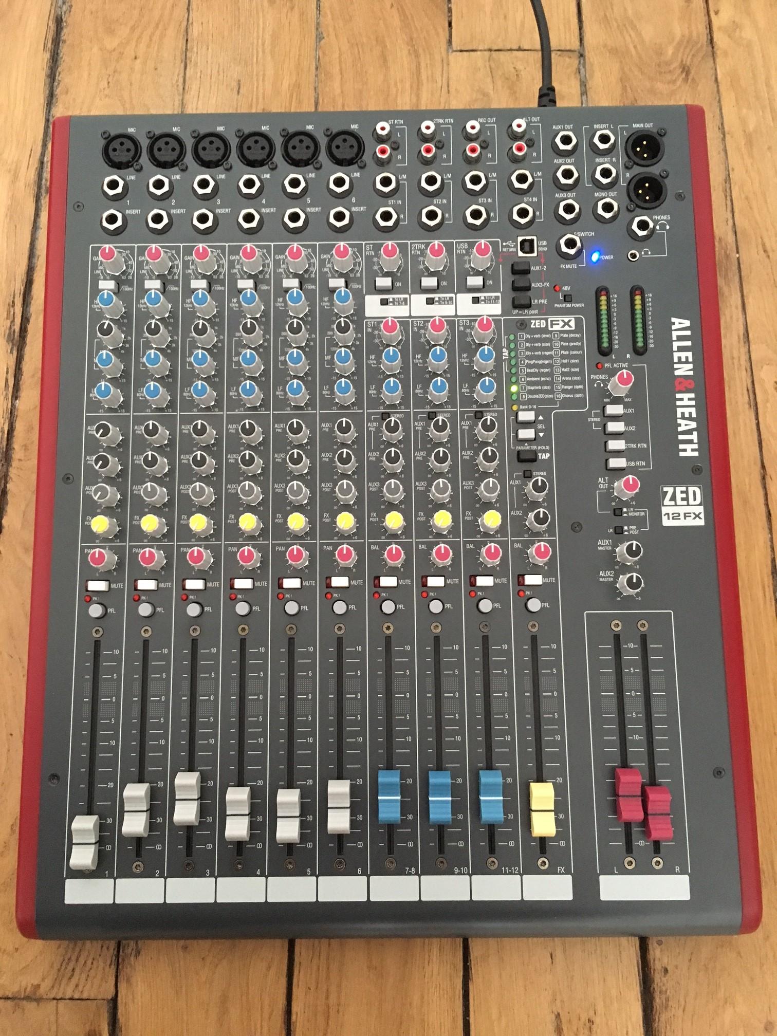 Allen Heath Zed 12fx : allen heath zed 12fx image 1796746 audiofanzine ~ Hamham.info Haus und Dekorationen