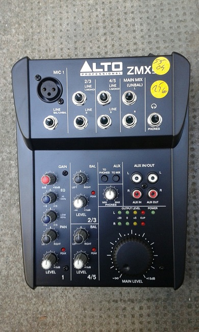 Alto zmx52 table de mixage analogique rh ne alpes for Table de mixage zmx 52