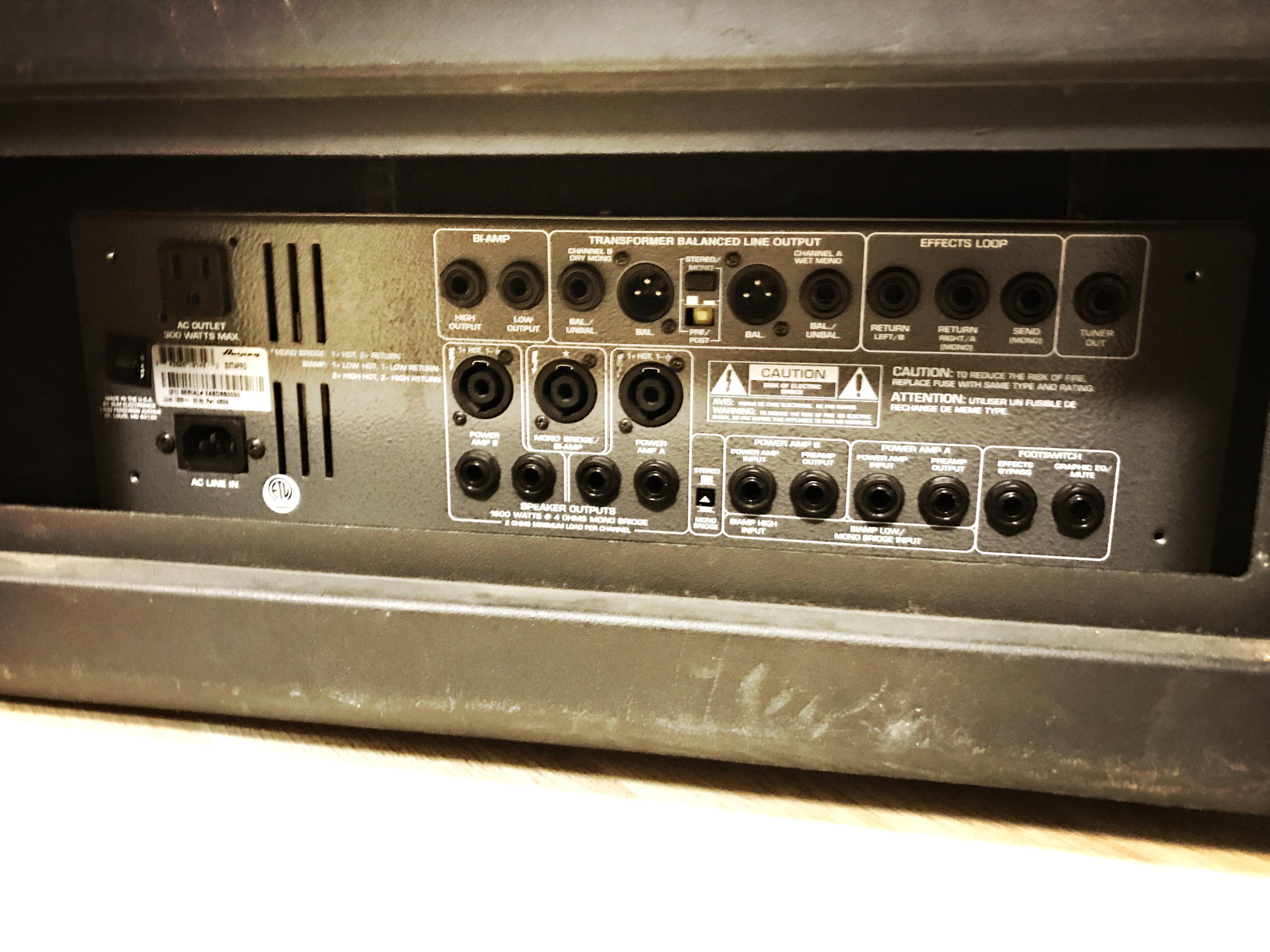 Ampeg Svt 4 pro Manual Repair no sound