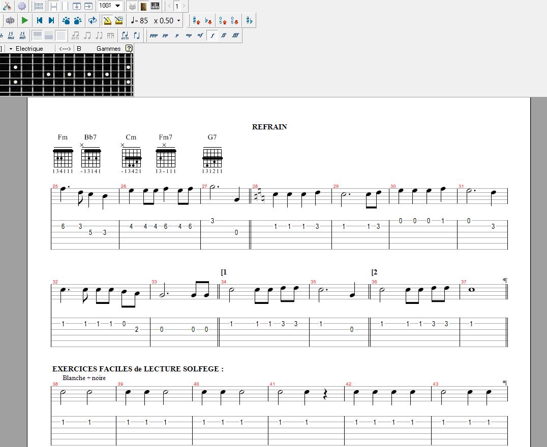 partition guitare pro