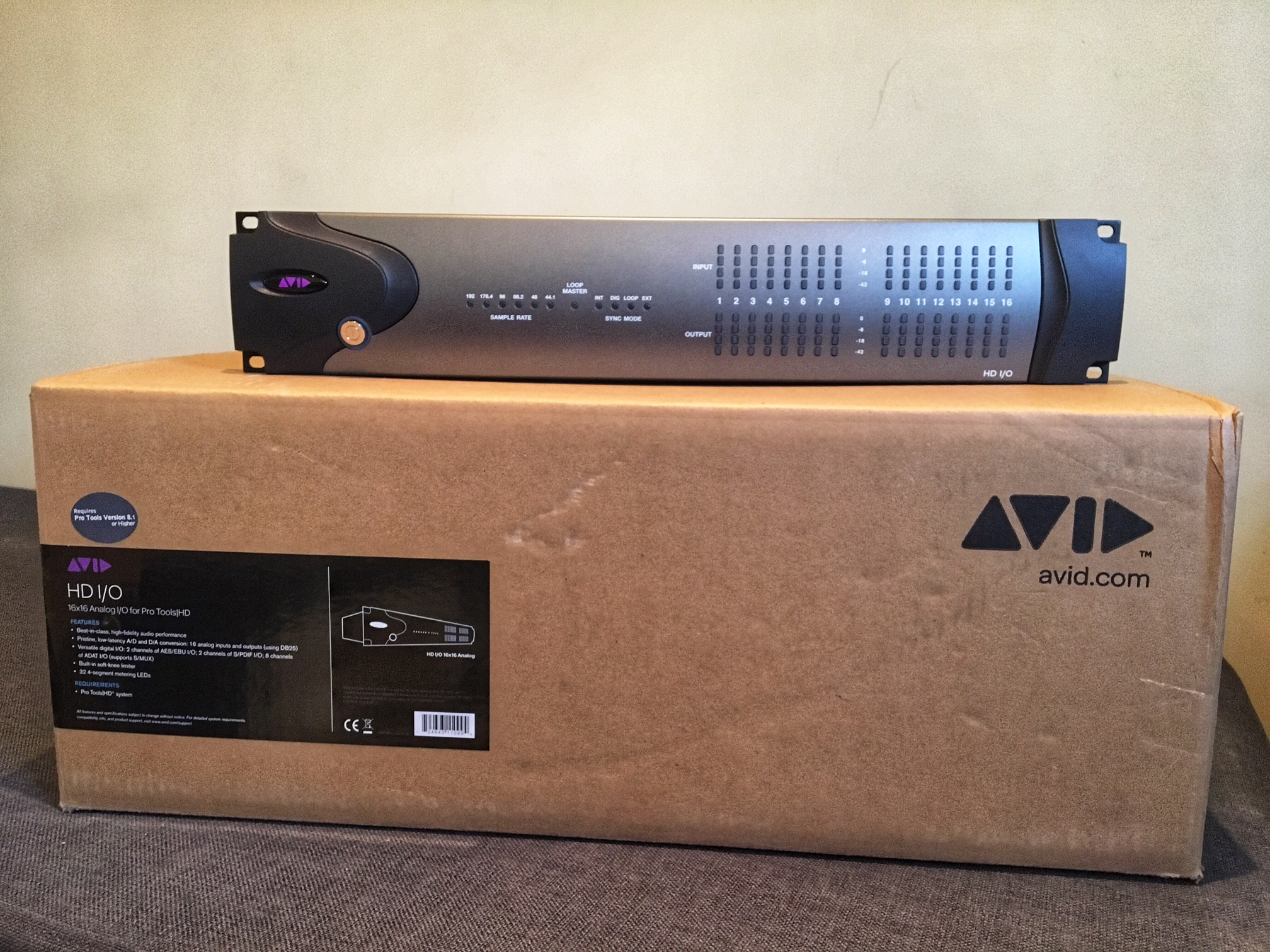 avid pro tools hd native thunderbolt interface