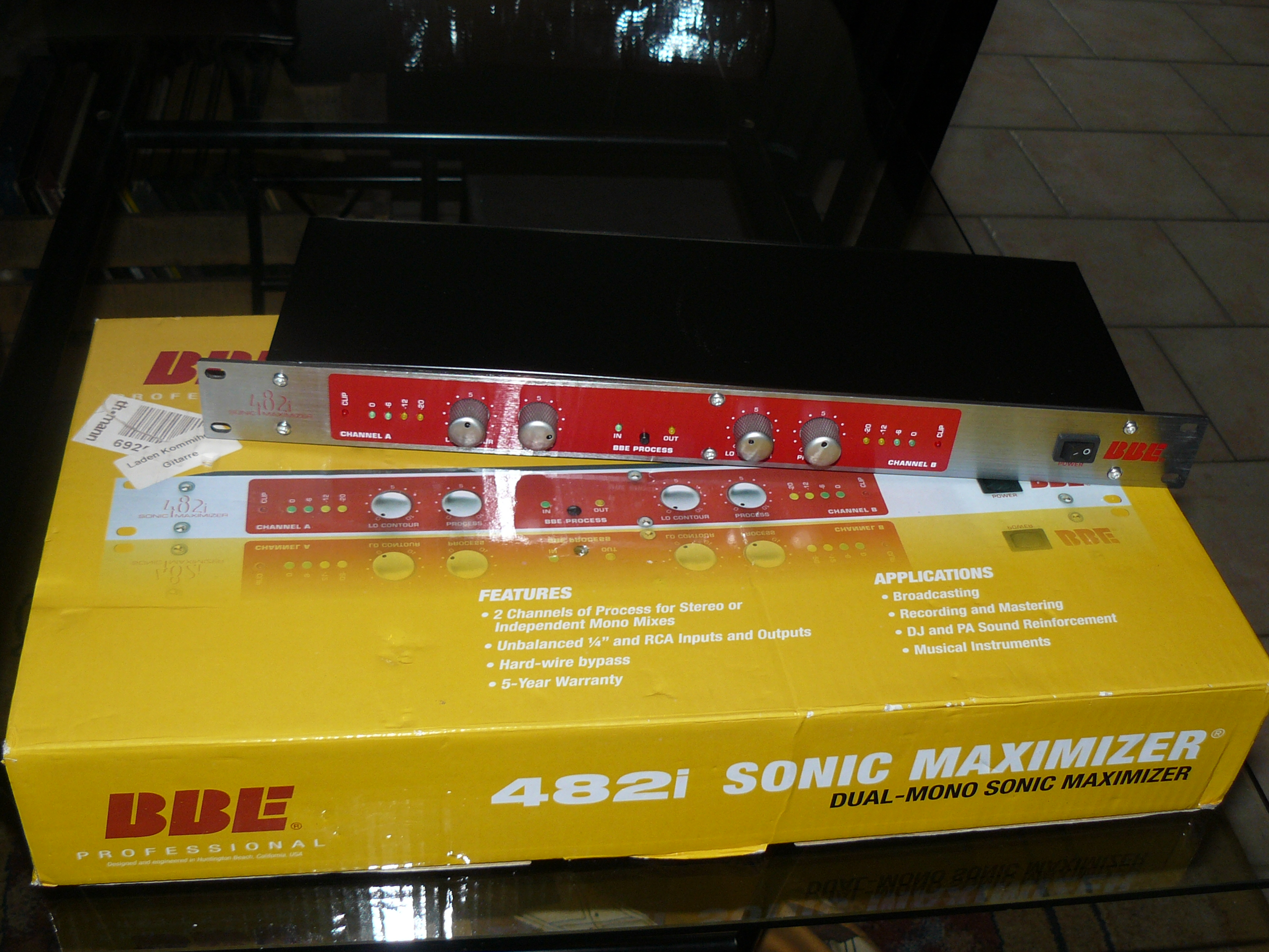 bbe sonic maximizer 482i image 1380807 audiofanzine. Black Bedroom Furniture Sets. Home Design Ideas