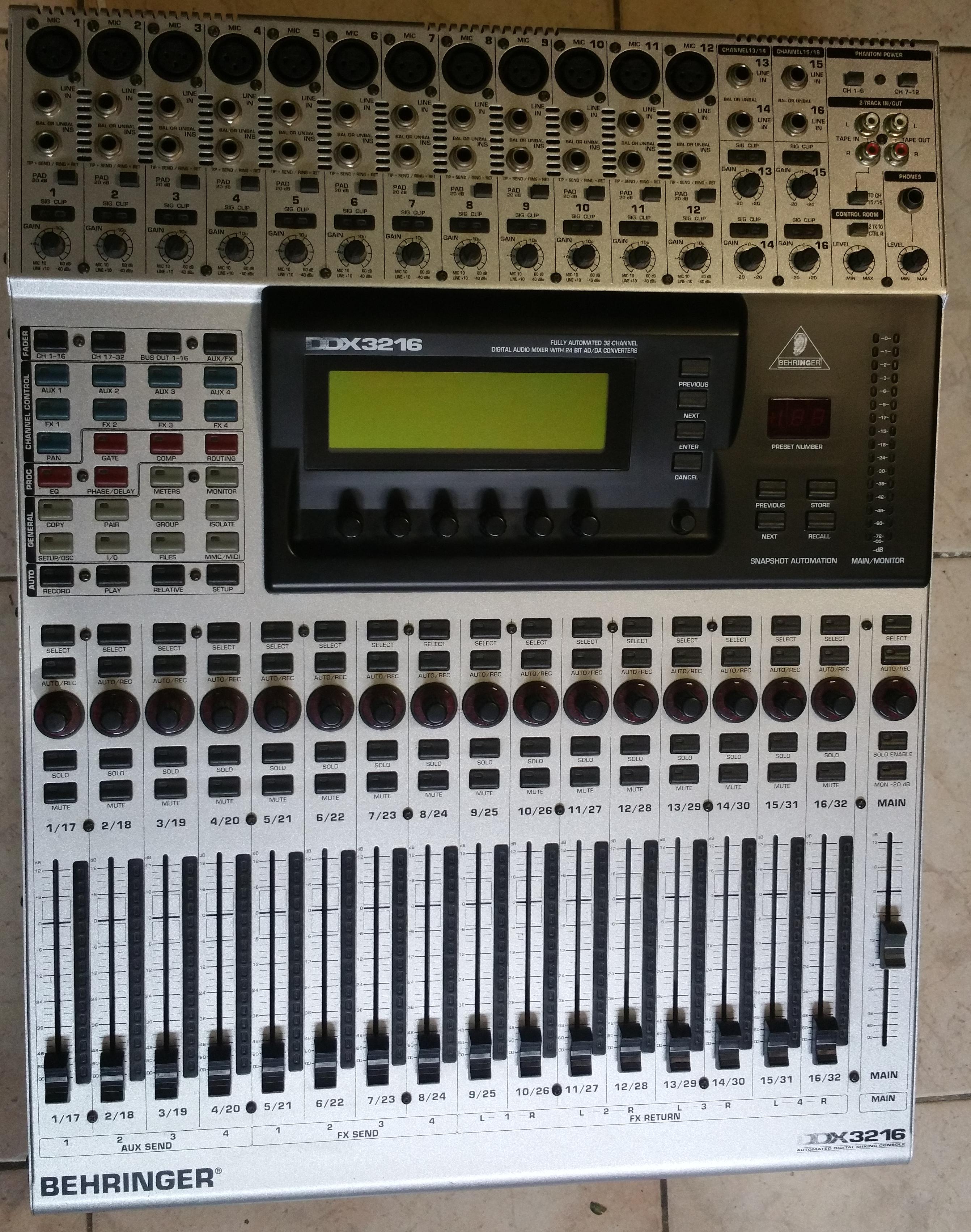 Table de mixage numerique behringer ddx3216 - Console numerique behringer ...