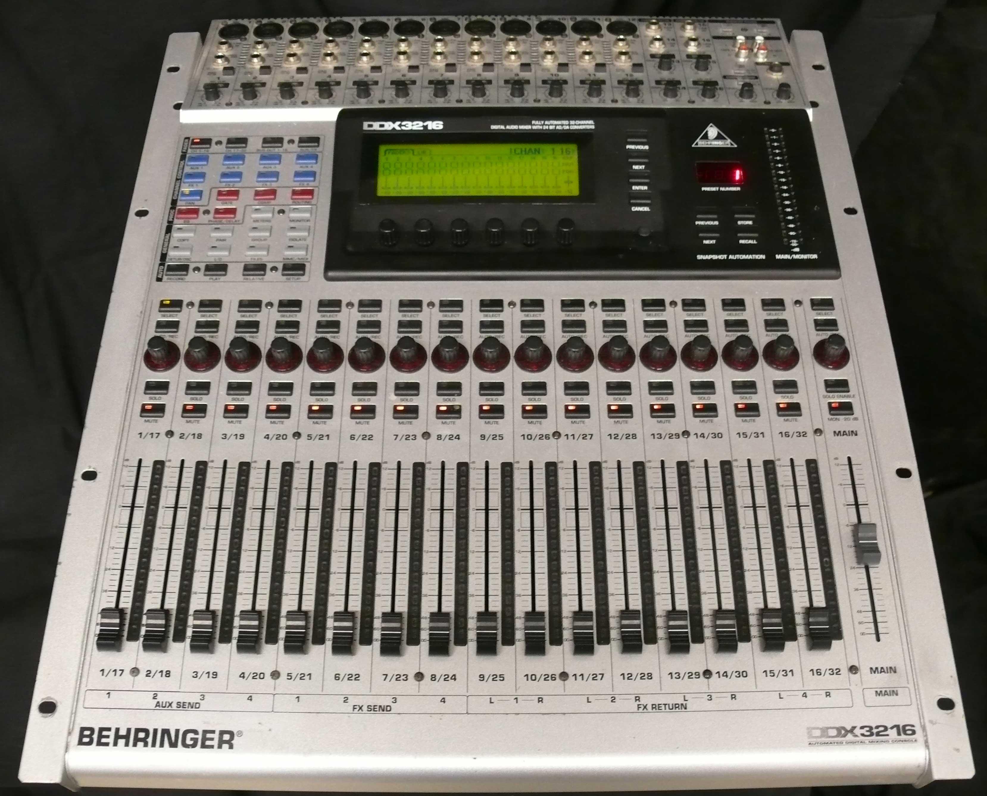 Photo behringer ddx3216 behringer digital mixer series ddx3216 345799 audiofanzine - Console numerique behringer ...