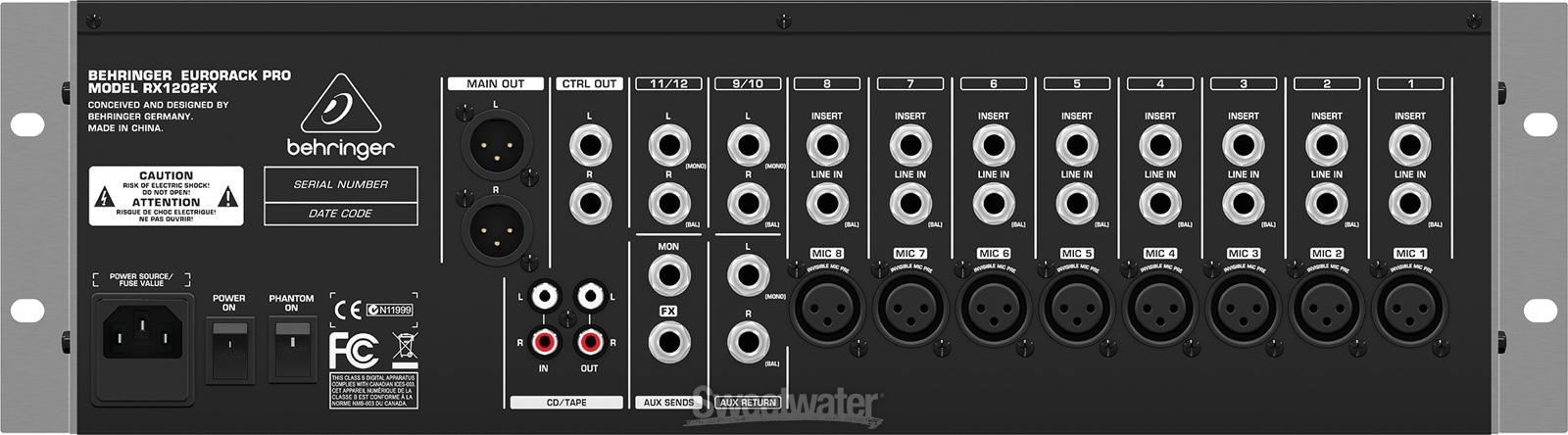 behringer eurorack pro rx1202fx image 667022 audiofanzine rh en audiofanzine com Behringer Eurorack Pro Behringer Eurorack Pro
