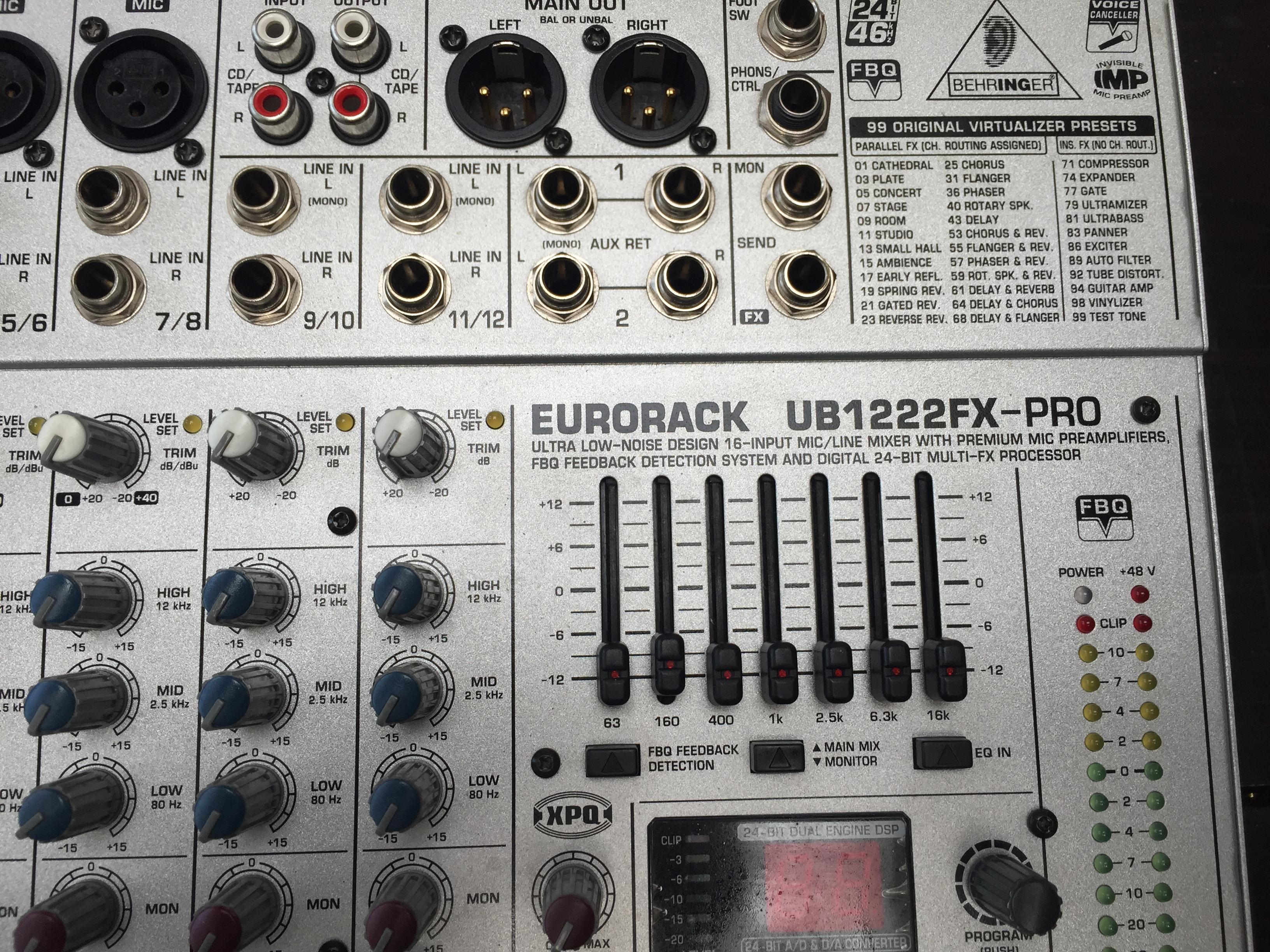 behringer eurorack ub1222fx pro image 1436577 audiofanzine rh en audiofanzine com behringer eurorack ub1222fx-pro user manual behringer eurorack ub1222fx-pro mixer price