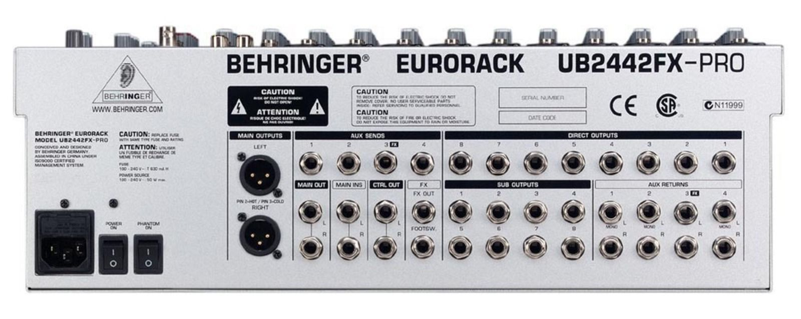 behringer eurorack ub2442fx pro image 38274 audiofanzine rh en audiofanzine com Behringer UB2442FX Pro Mixer Behringer 2442 Mixer