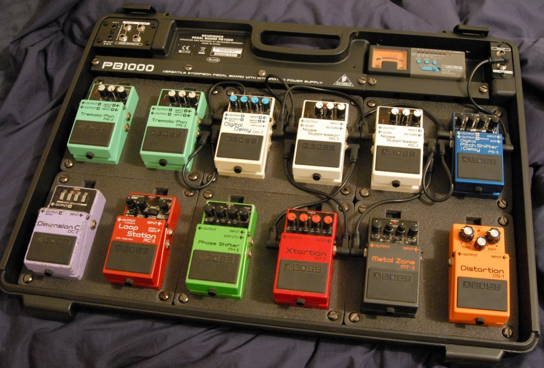 stompboxzone view topic boss pedals w a behringer pb1000 board. Black Bedroom Furniture Sets. Home Design Ideas