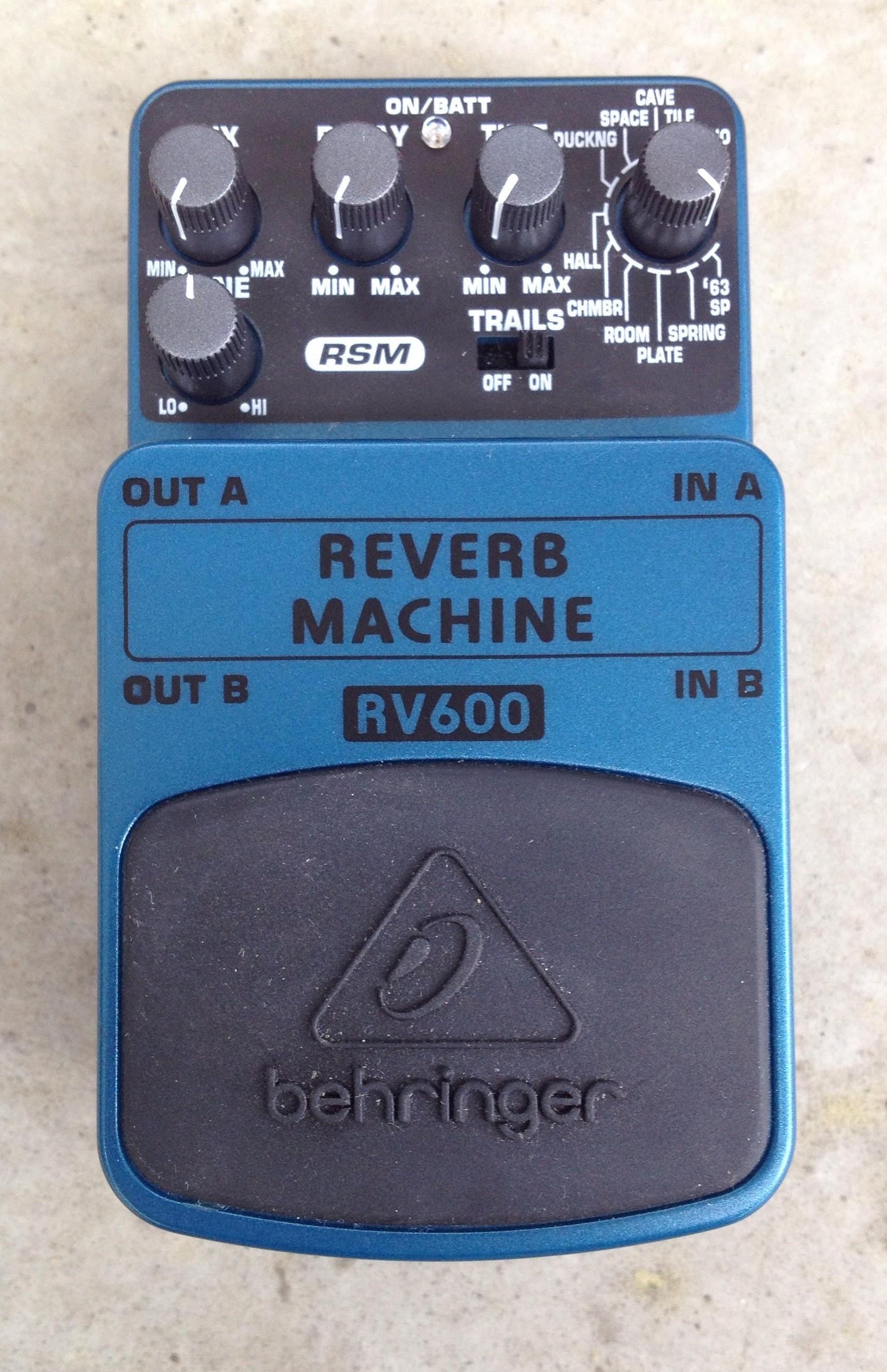 behringer reverb machine