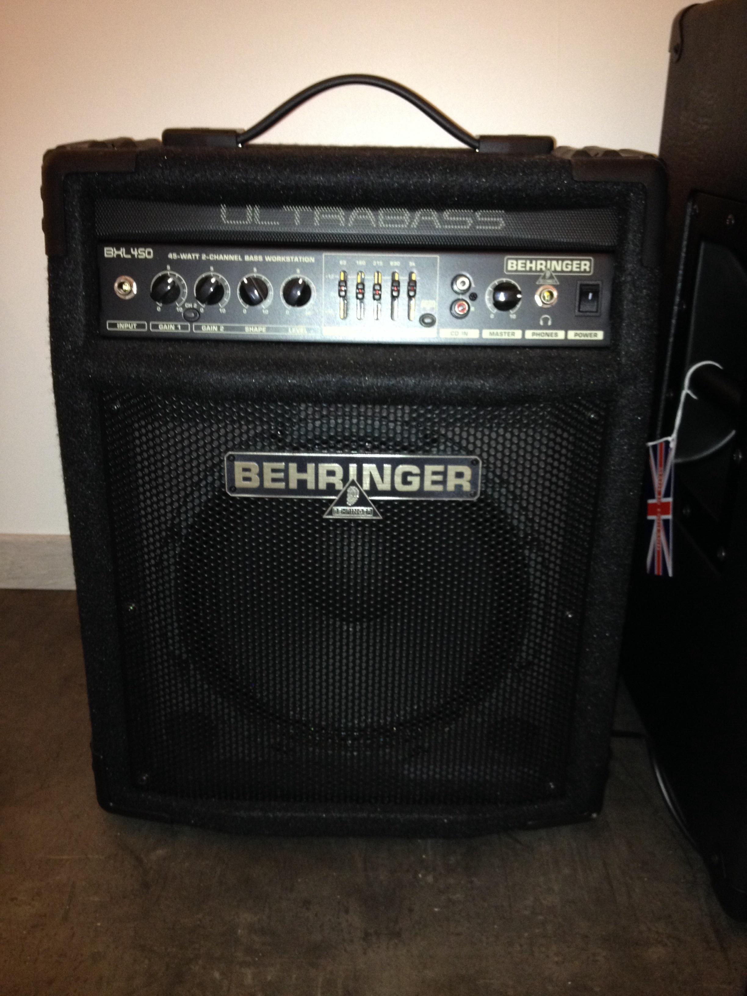 Behringer Ultrabass Bxl450 Image 782147 Audiofanzine
