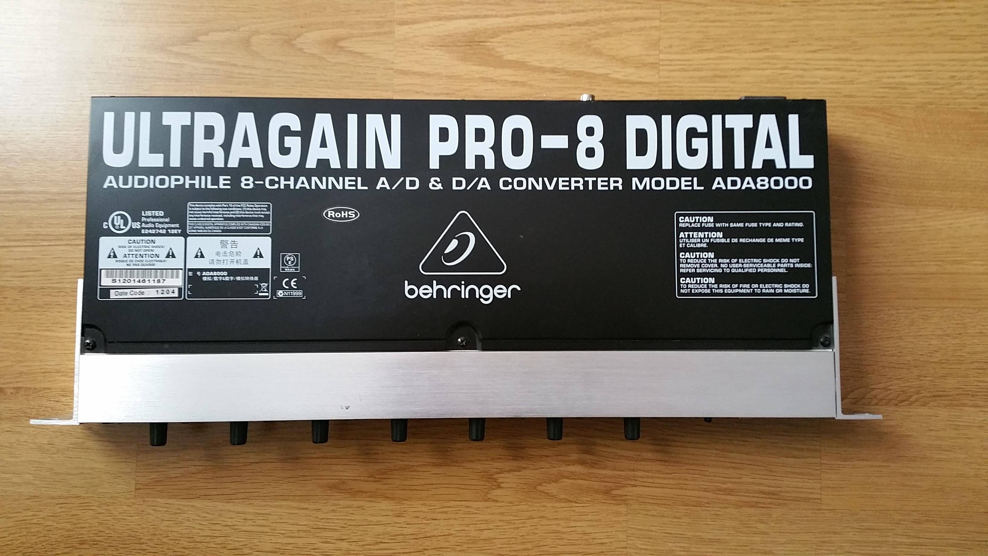 ultragain pro 8 digital ada8000 behringer audiofanzine. Black Bedroom Furniture Sets. Home Design Ideas
