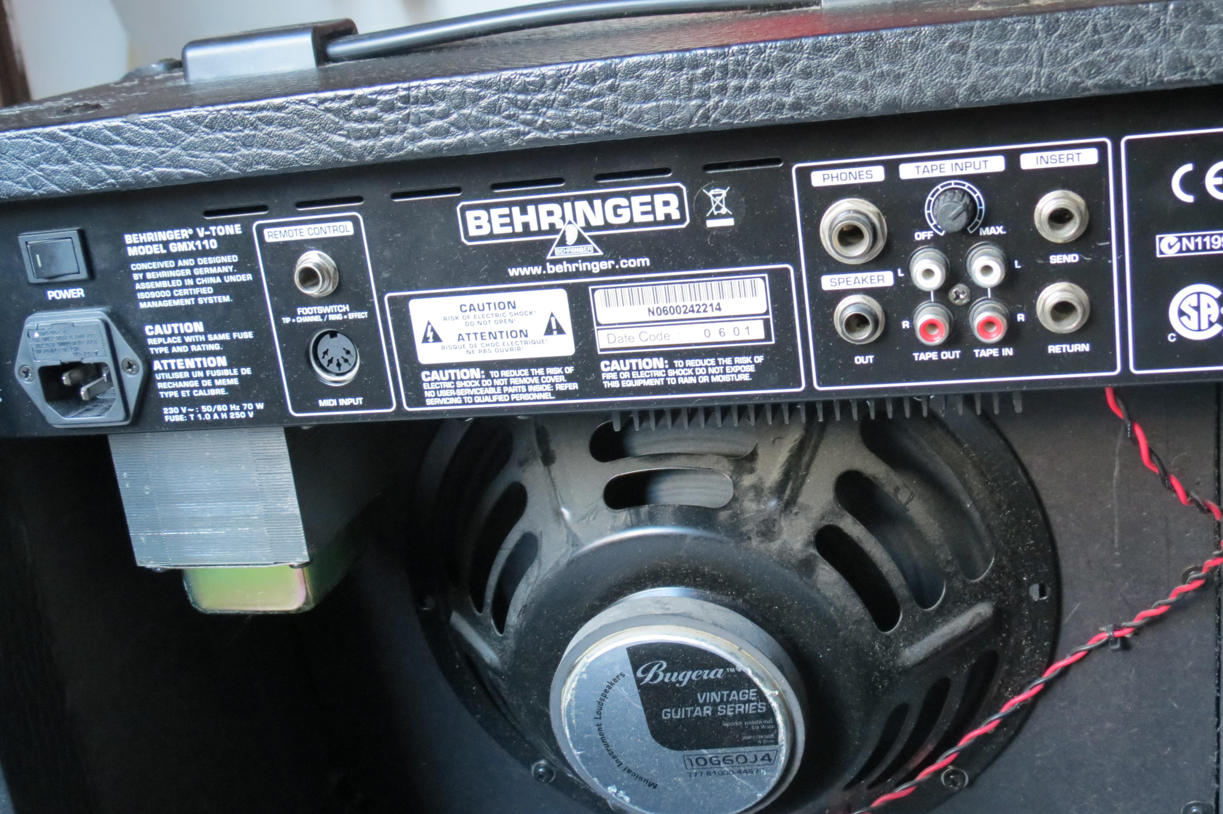 Behringer V Tone Gmx110 Image 822733 Audiofanzine