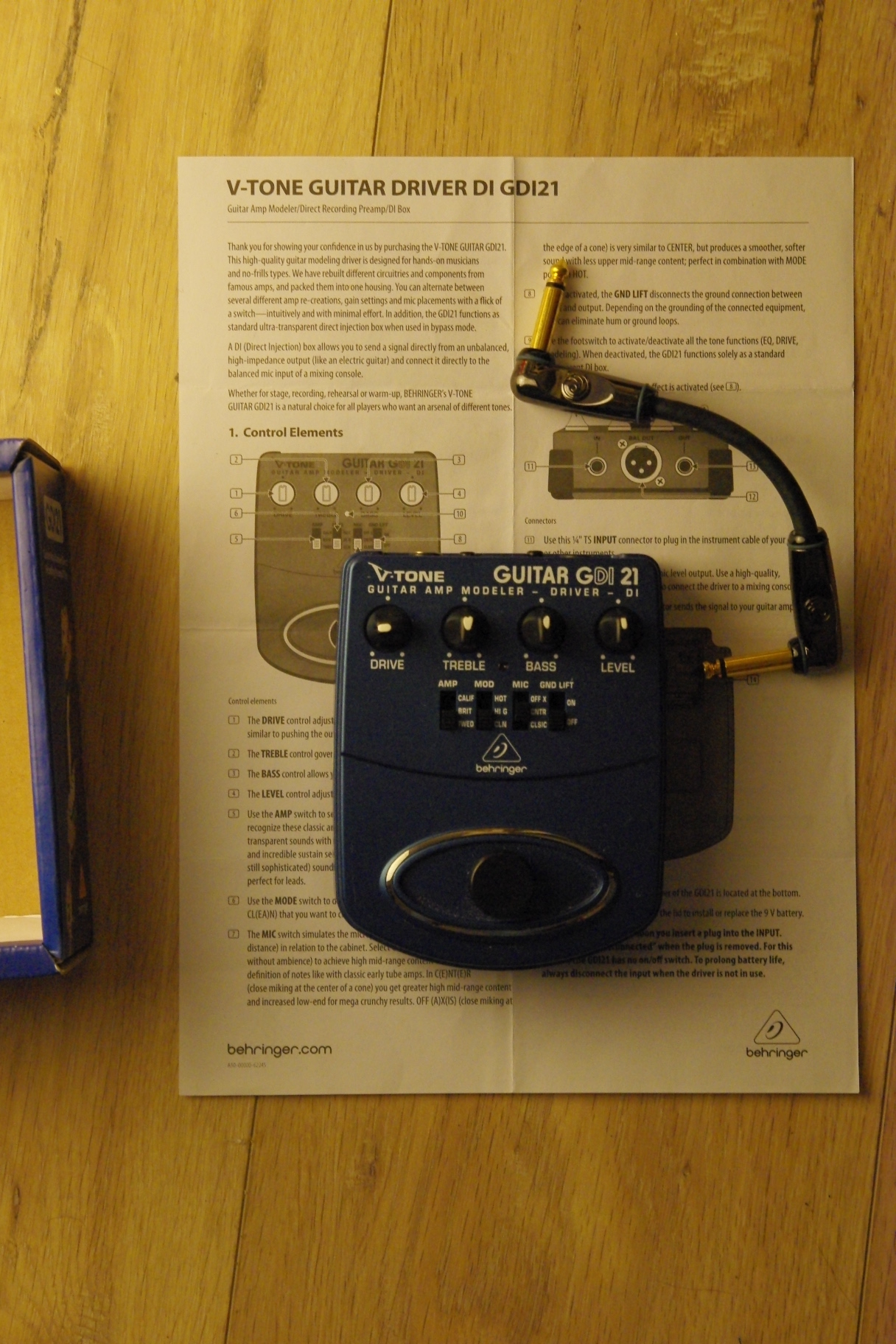 behringer v tone gmx212 manual