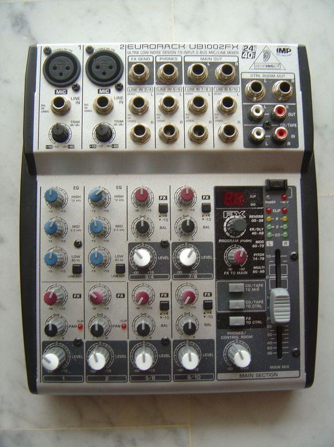 photo behringer xenyx 1002fx behringer table de mixage behringer enyx 1002 fx 982974. Black Bedroom Furniture Sets. Home Design Ideas
