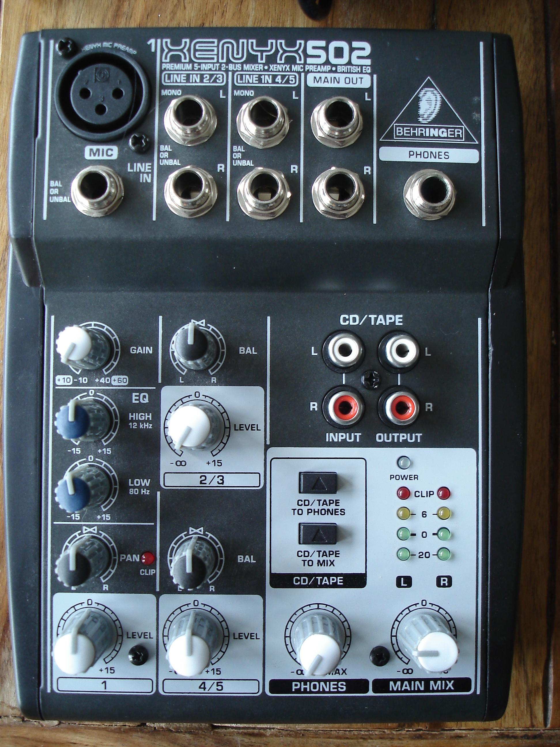 Behringer Xenyx 502 image (#526067) - Audiofanzine