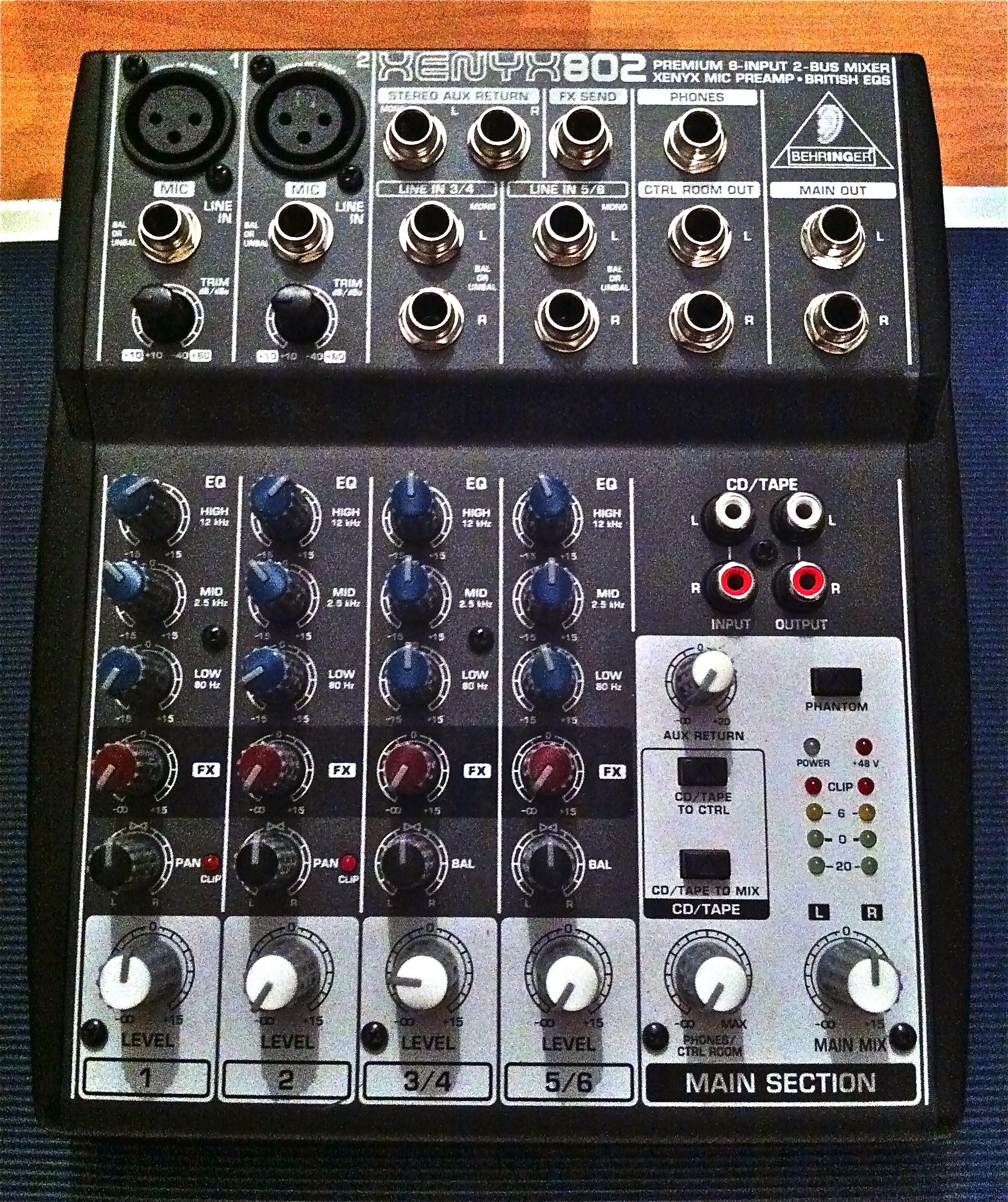 Behringer Mixer 802 : behringer xenyx 802 image 490538 audiofanzine ~ Vivirlamusica.com Haus und Dekorationen