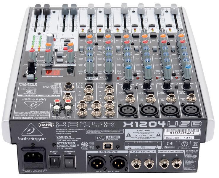 Photo behringer xenyx x1204usb behringer table de mixage - Table de mixage en ligne gratuit ...