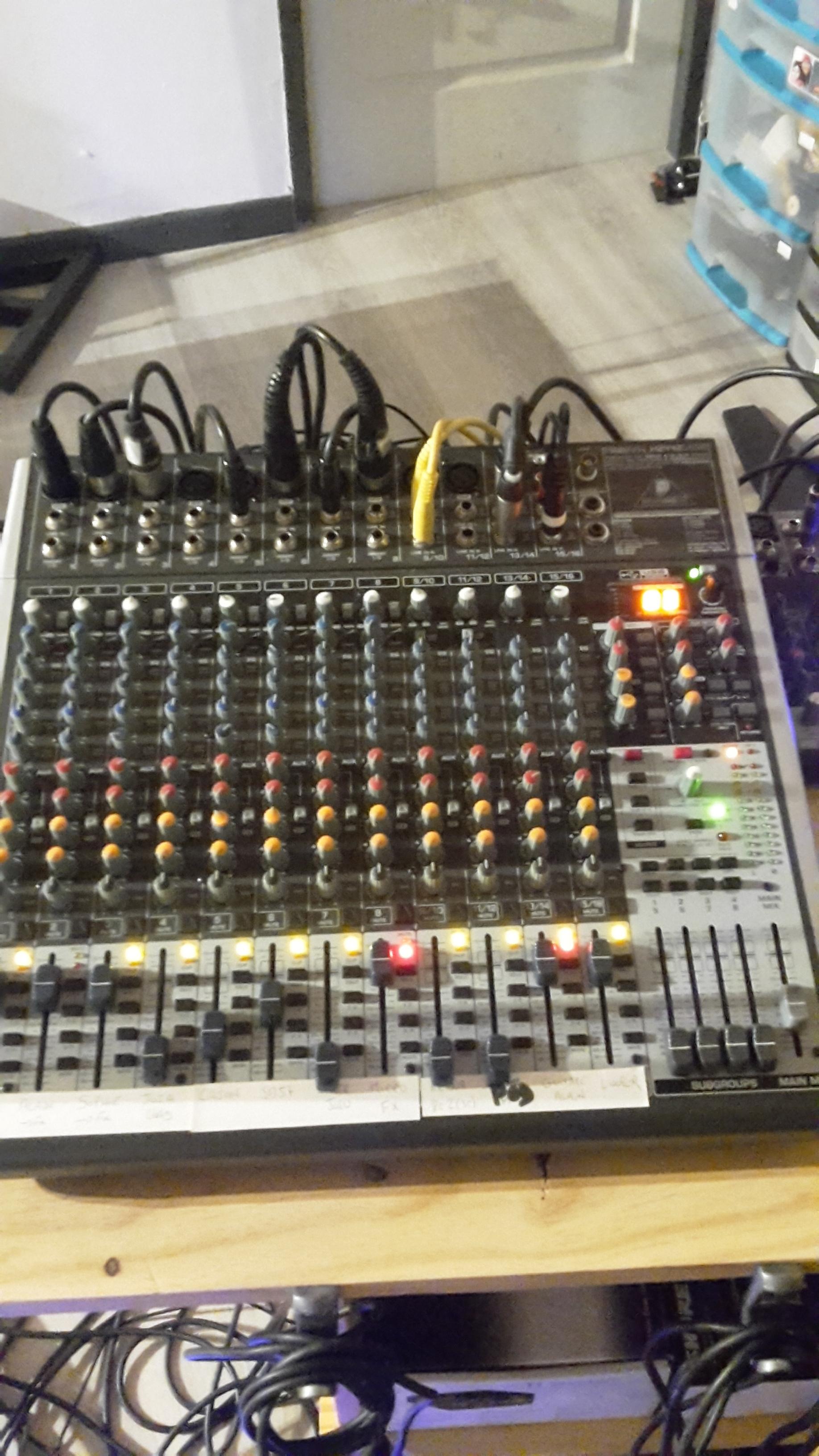 Table de mixage behringer x2442 usb alsace audiofanzine - Table de mixage en ligne gratuit ...