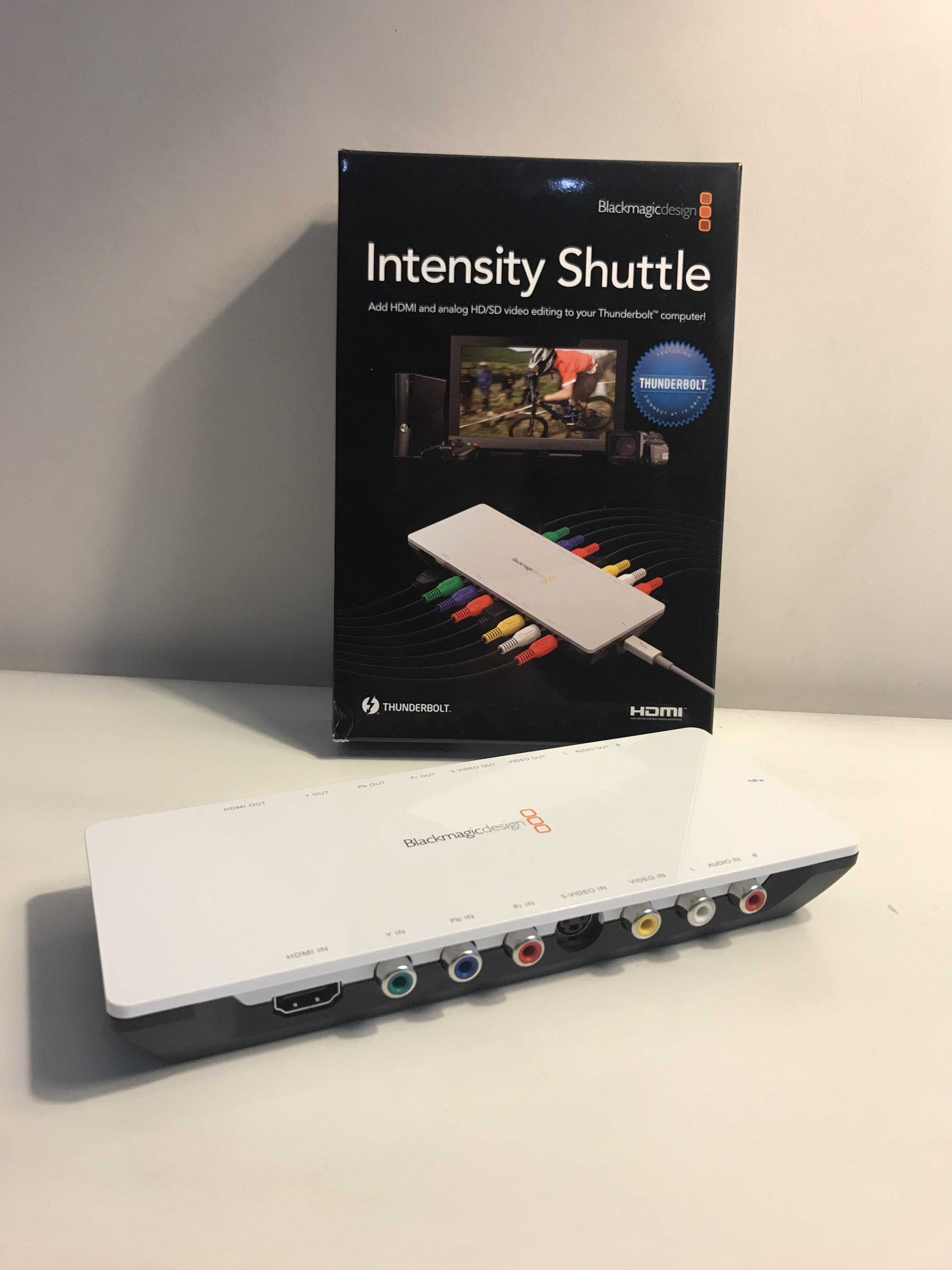 Intensity Shuttle Thunderbolt Blackmagic Design Audiofanzine