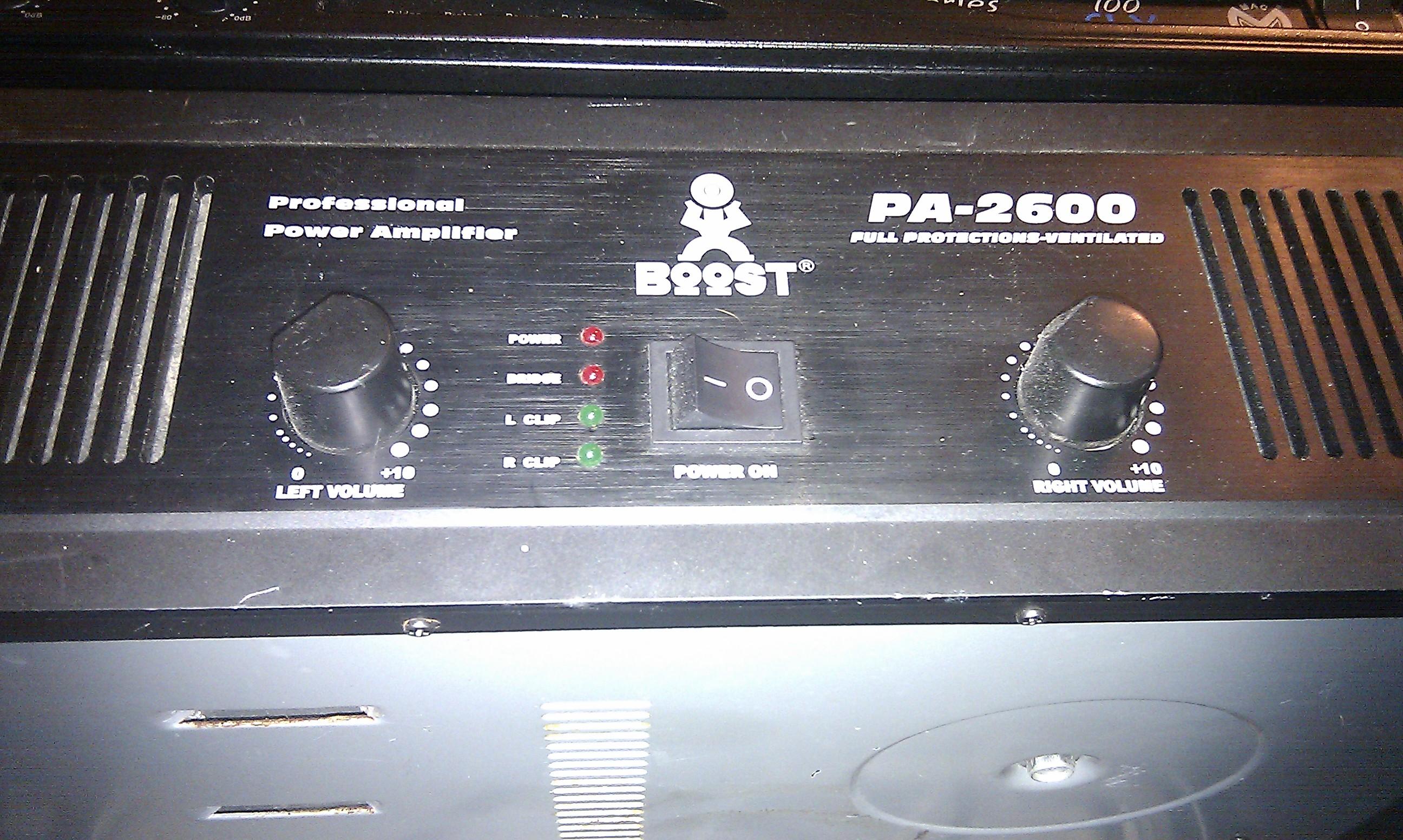 ampli sono boost pa-2600
