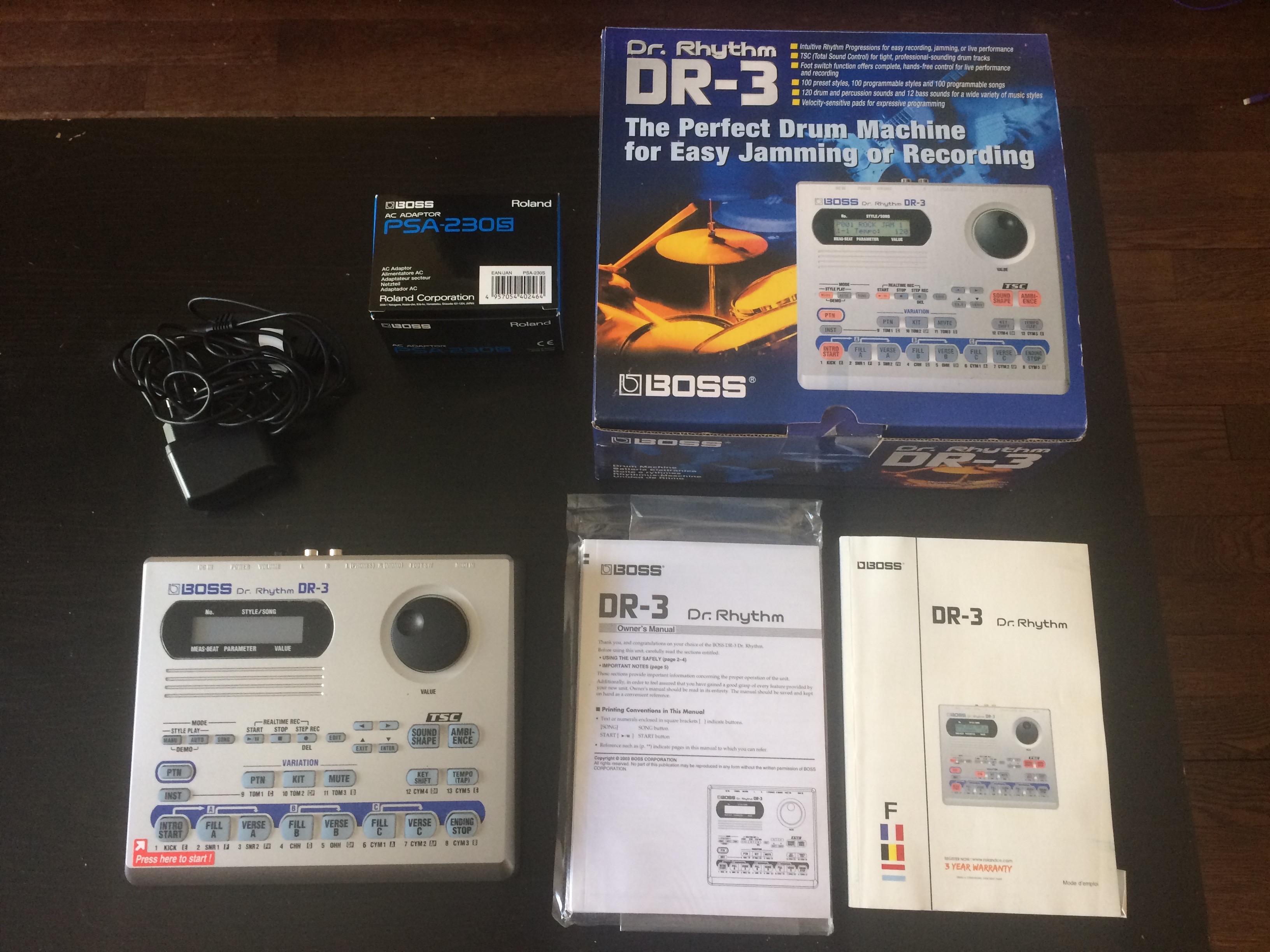 boss dr 3 dr rhythm image 2011314 audiofanzine. Black Bedroom Furniture Sets. Home Design Ideas