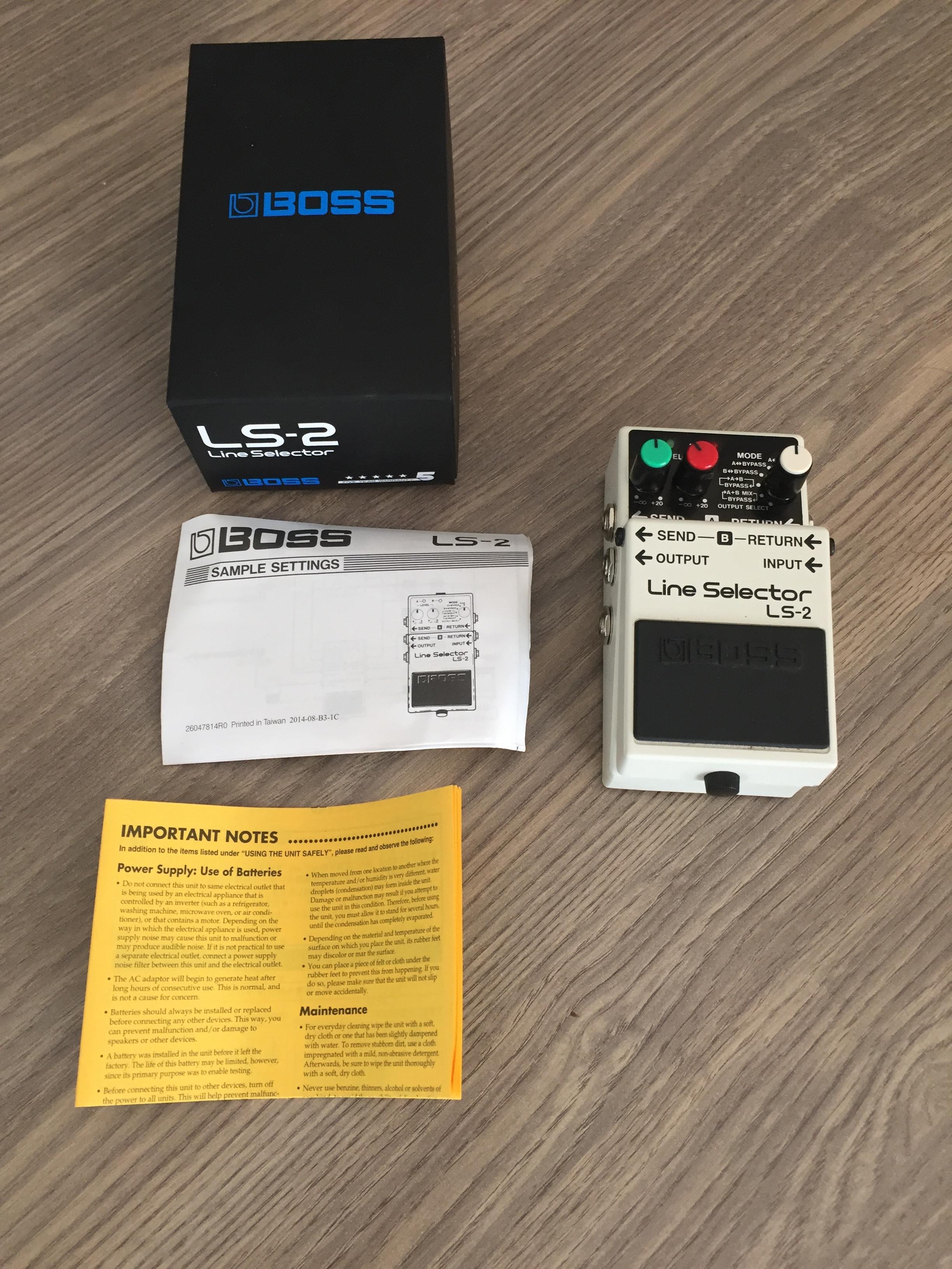 boss ls 2 line selector image 1757980 audiofanzine. Black Bedroom Furniture Sets. Home Design Ideas