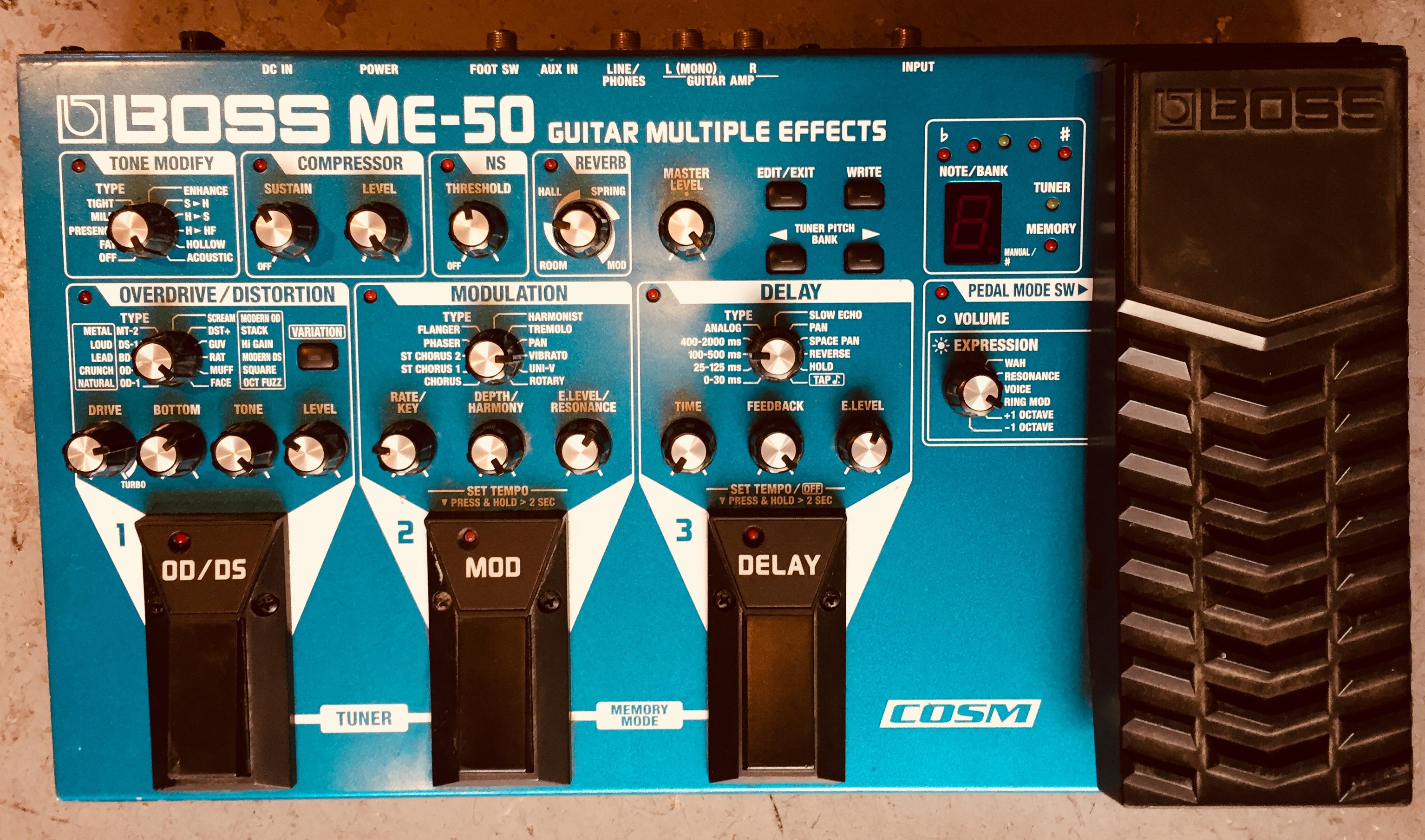 me 50 boss me 50 audiofanzine rh es audiofanzine com Guitar Processor Boss Me 50 Boss ME-50 Demo
