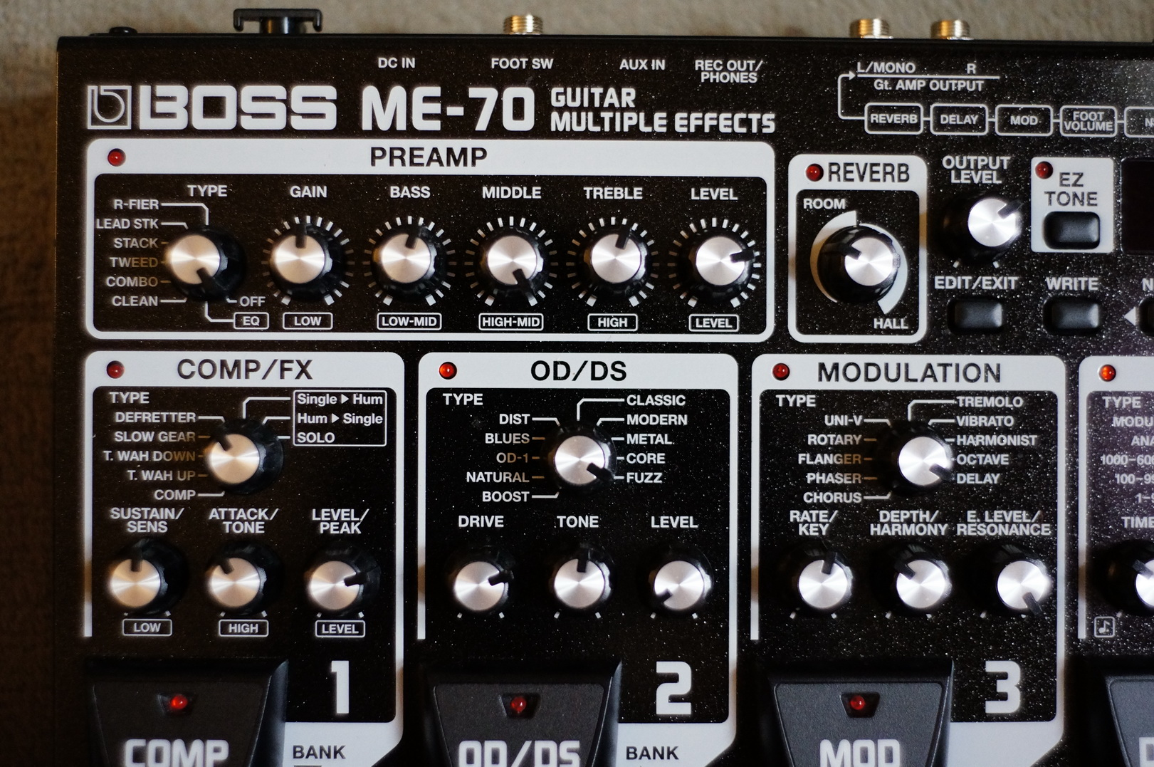 Boss ME-70 Manuals